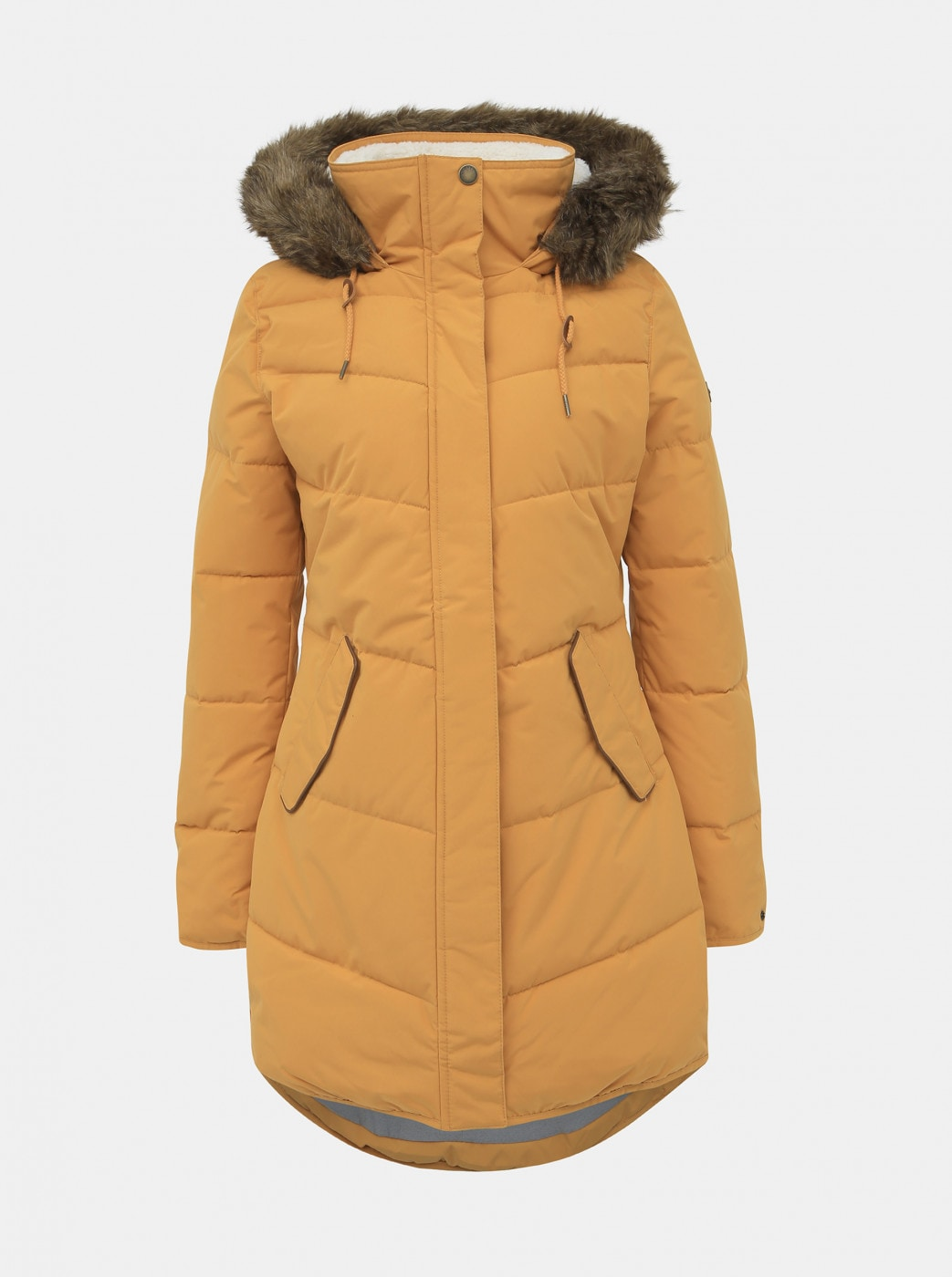 Roxy Ellie Mustard Winter Waterproof Coat