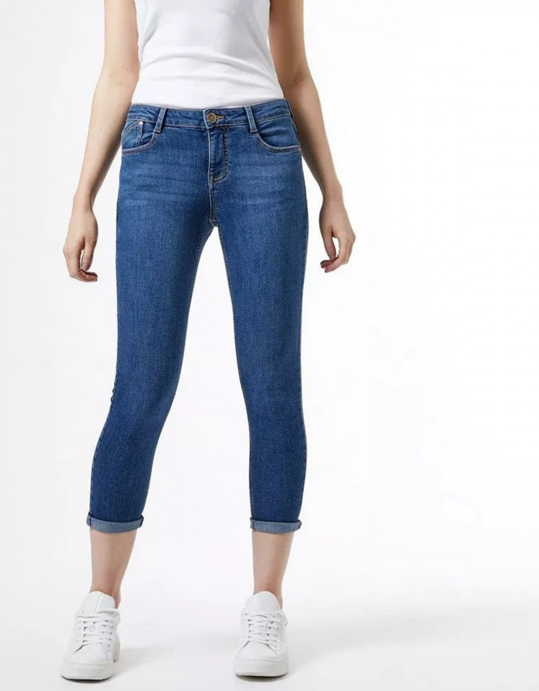 Blue Cropped Skinny Fit Jeans By Dorothy Perkins Harper
