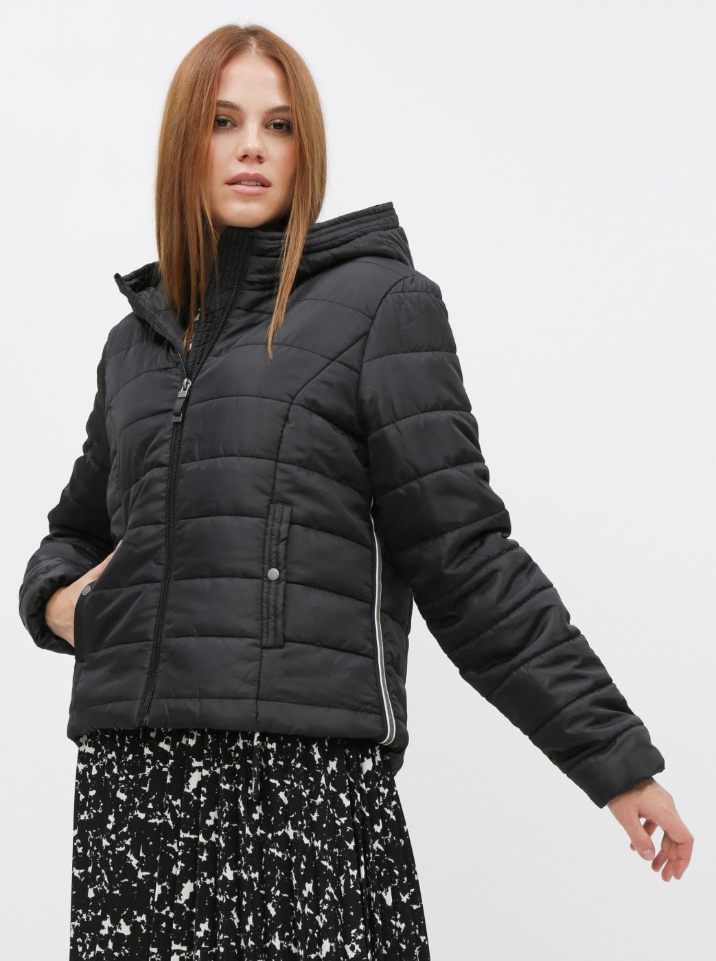 Vero MODA Simone Black Quilted Winter Jacket
