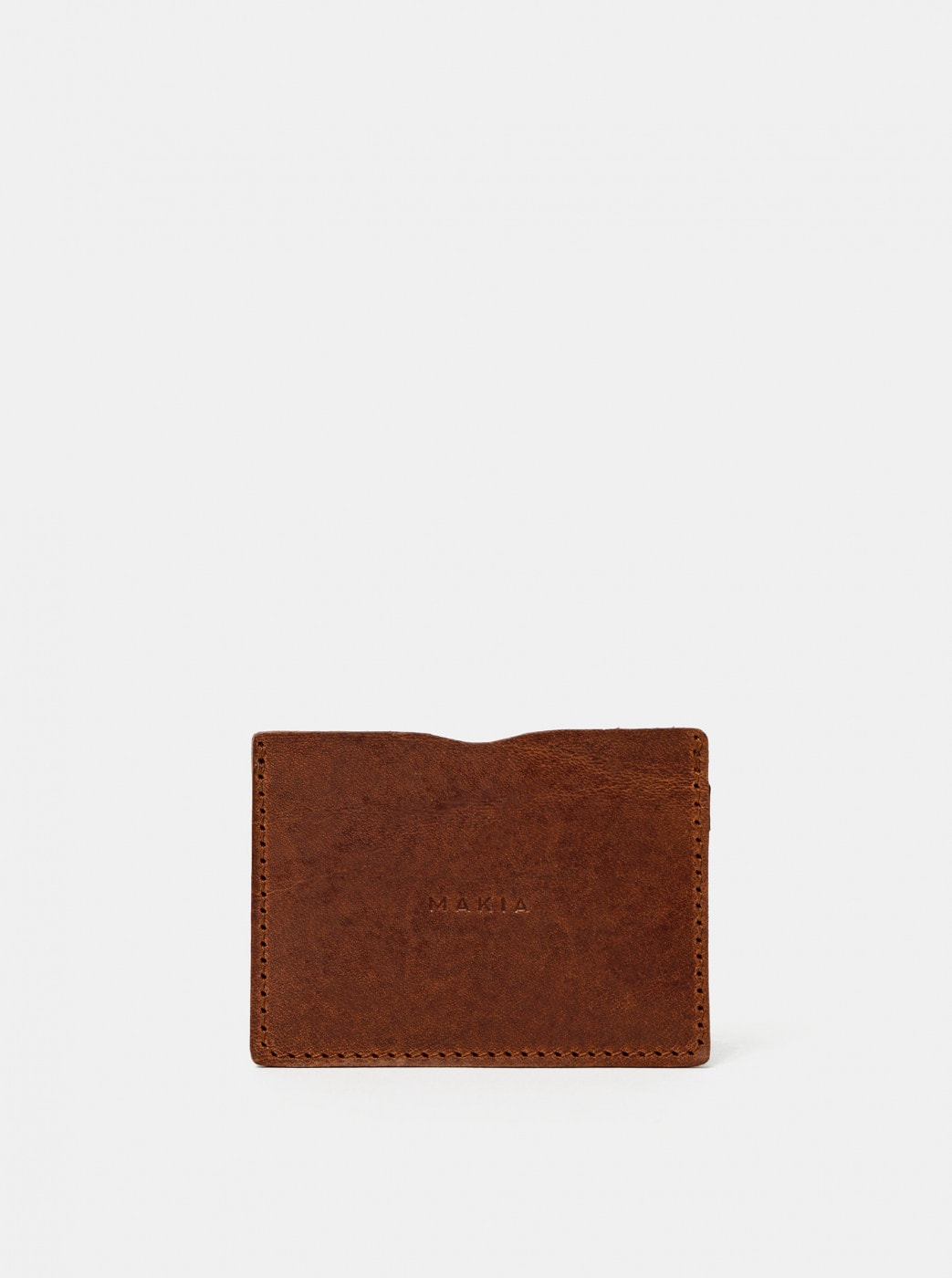 Makia Mark Brown Leather Card Case