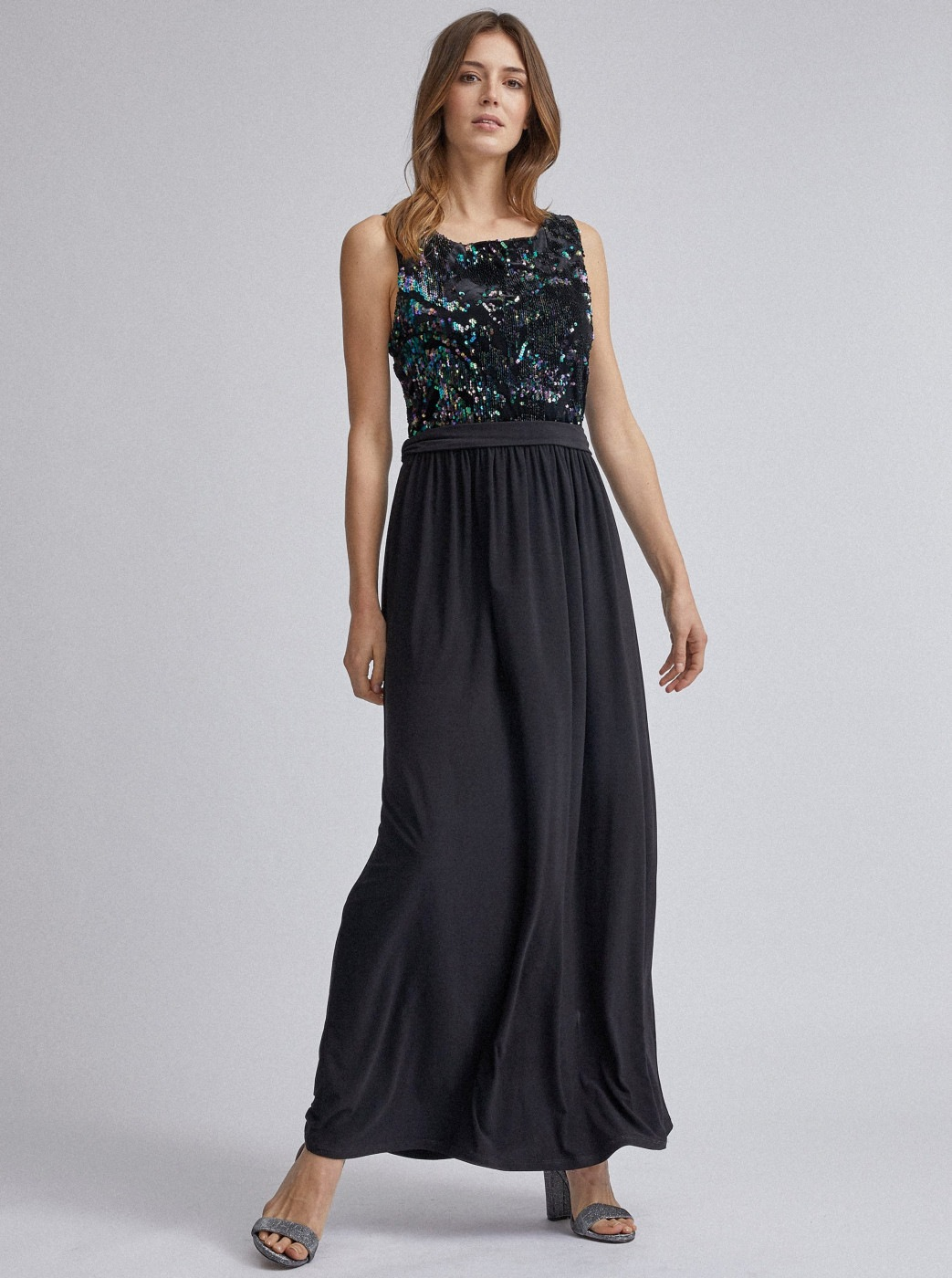 Black maxi dress with sequins Dorothy Perkins