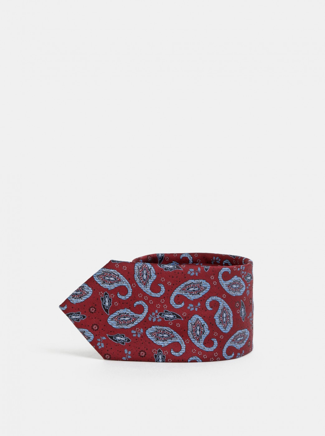 Burgundy Patterned Tie Selected Homme Martin