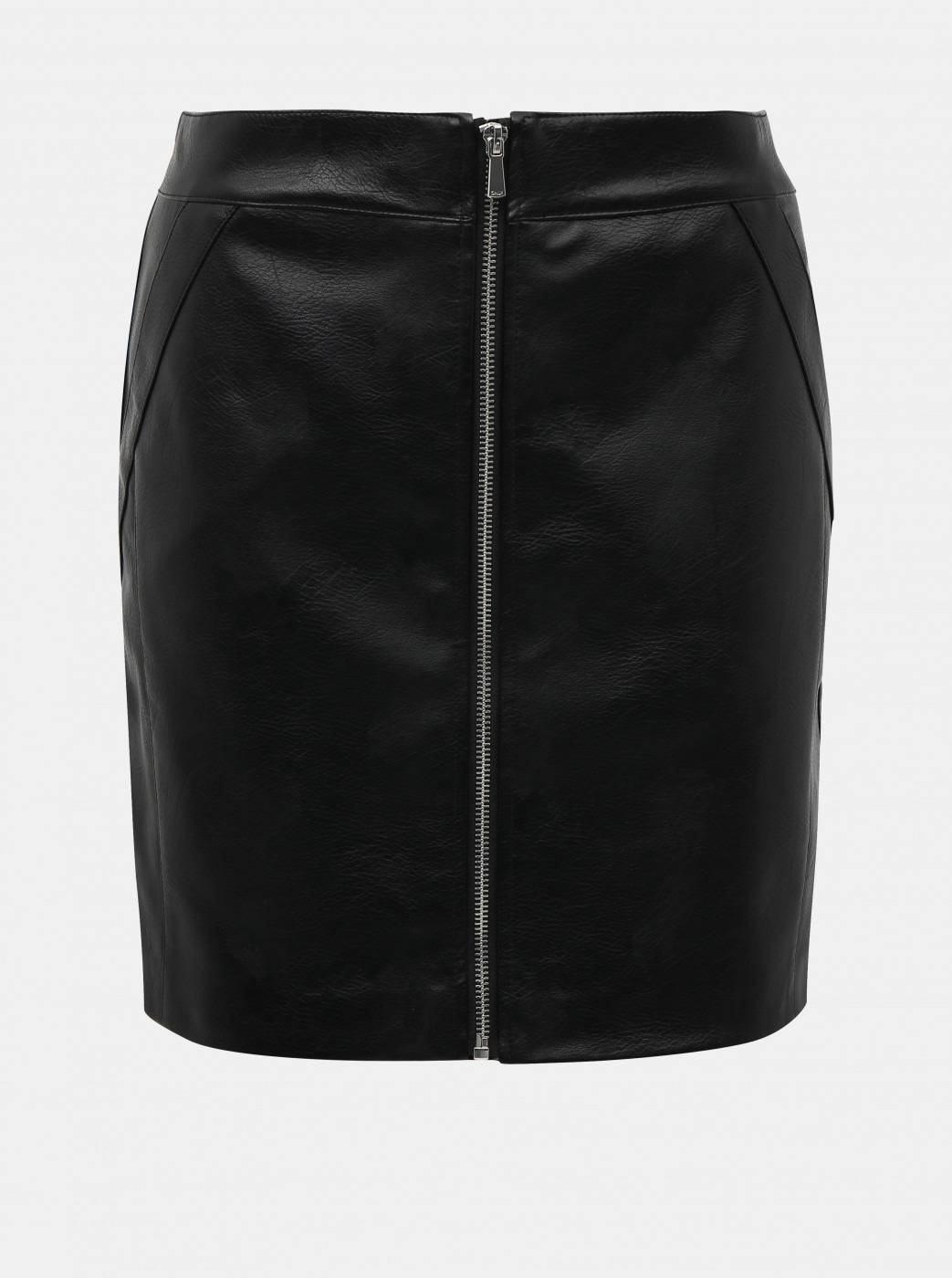 Black imitation leather skirt ONLY Glow