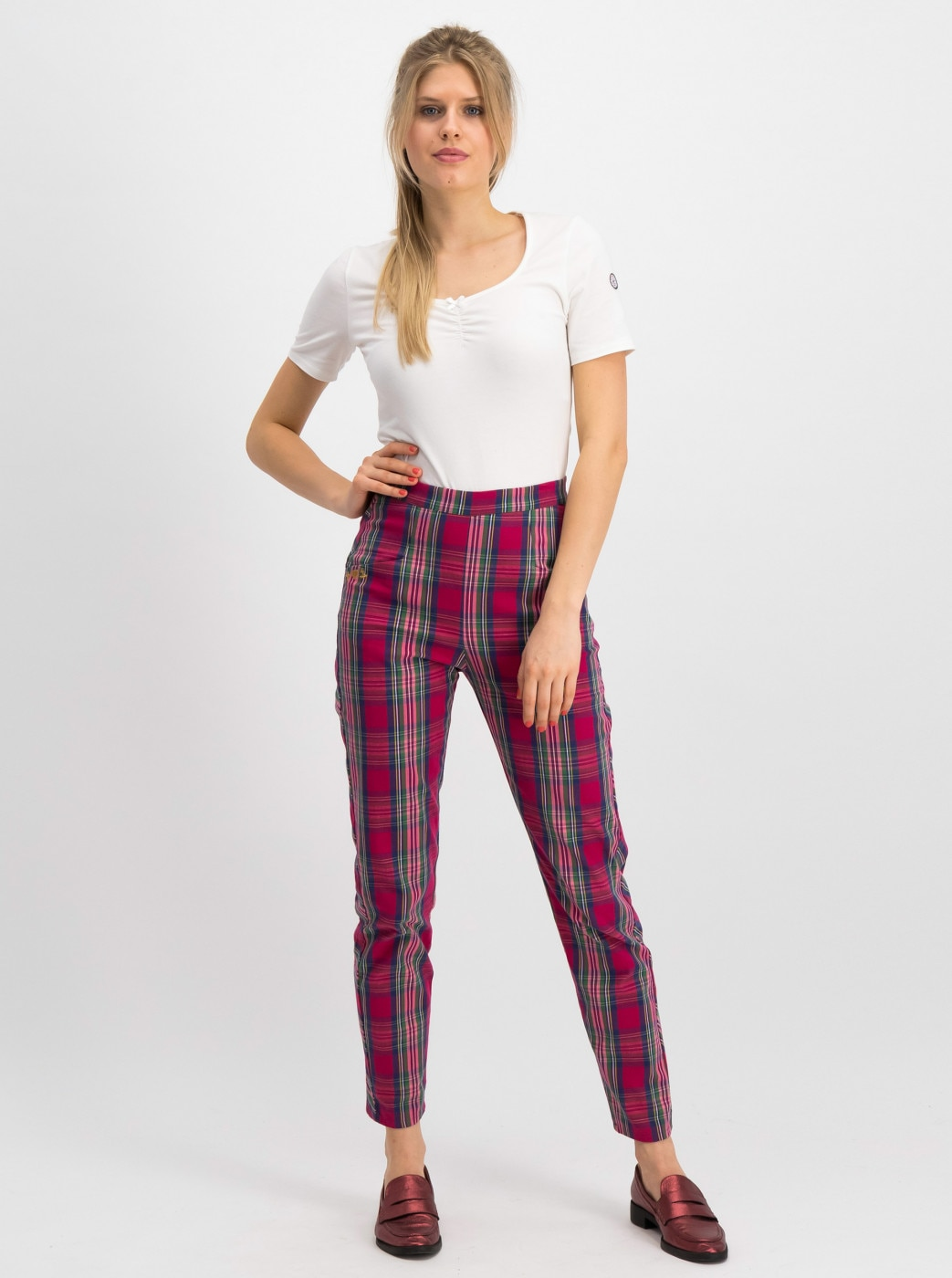 Blutsgeschwister Red Checked Pants