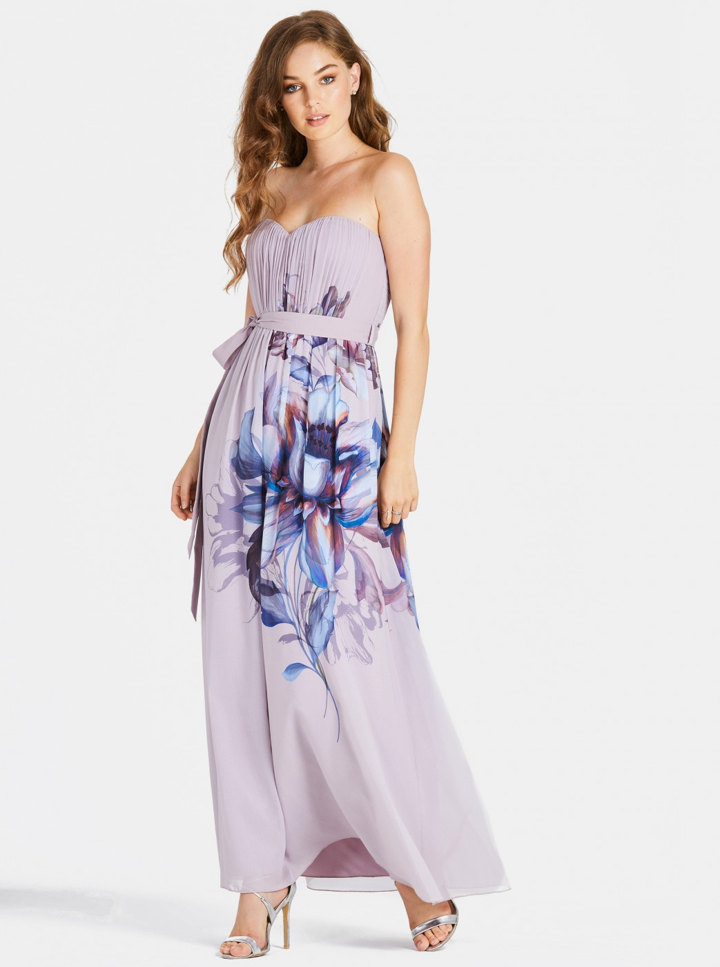 Light Purple Floral Maxi Dress Little Mistress