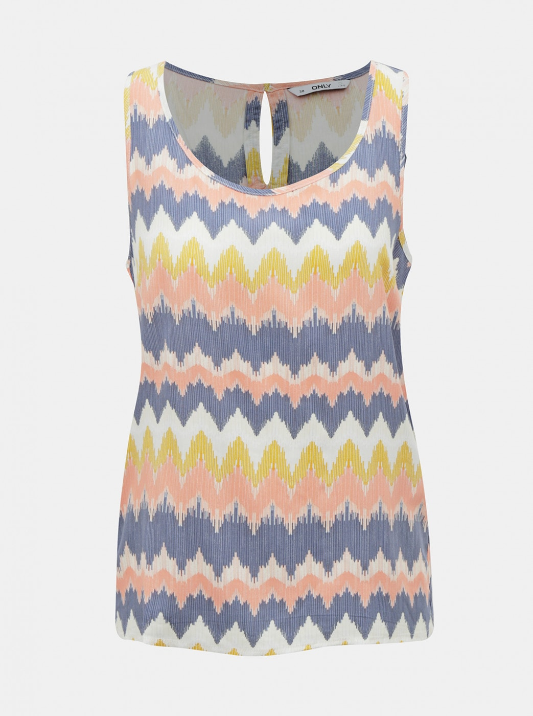 Yellow-blue patterned tank top ONLY Nova