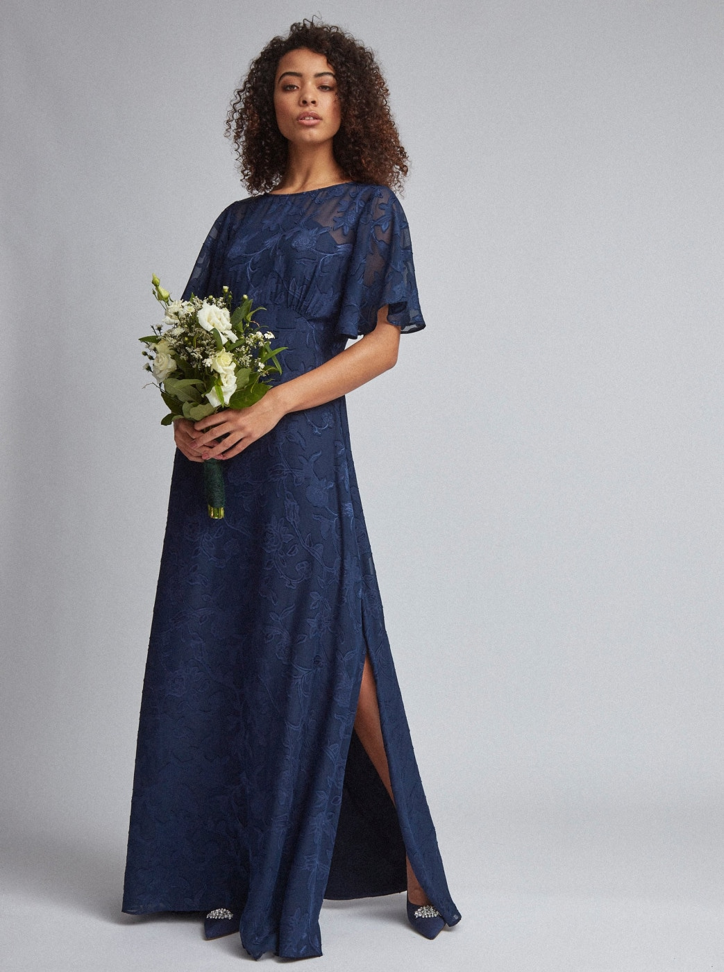 Dorothy Perkins Dark Blue Floral Maxi dress