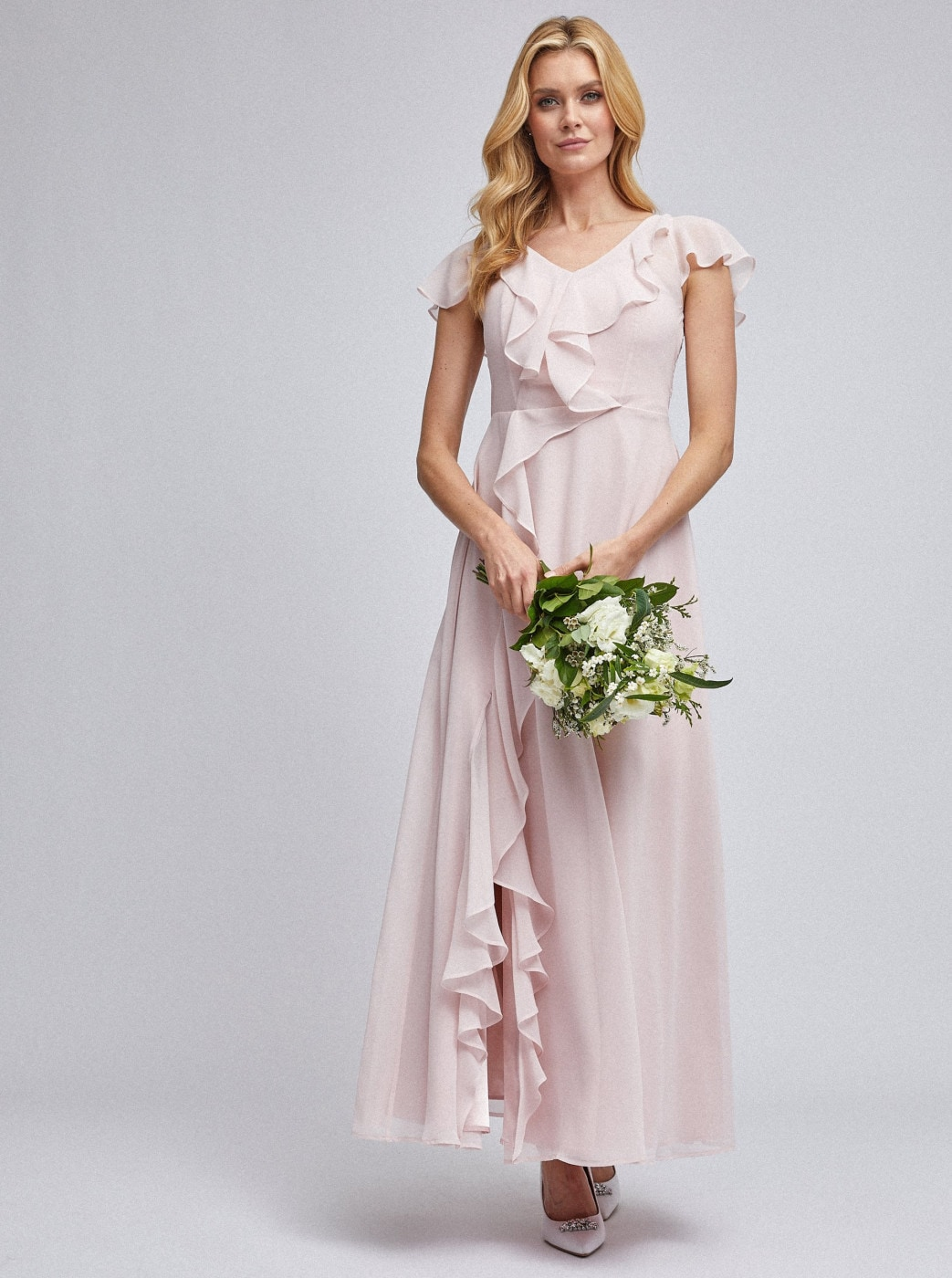 Light Pink Maxi Dress By Dorothy Perkins