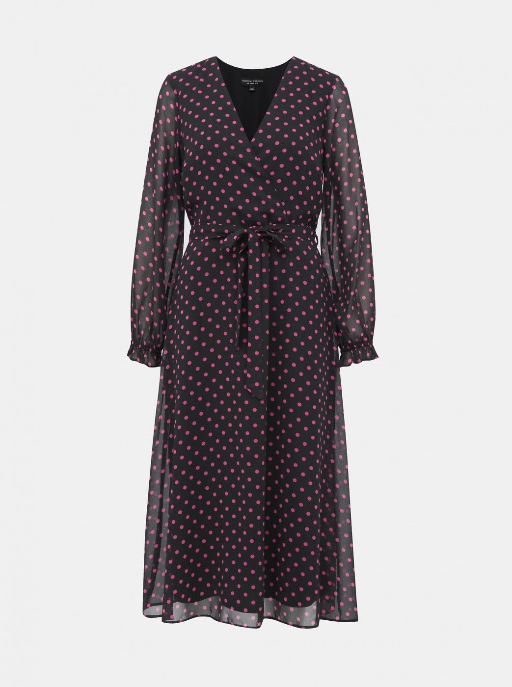 Pink-black dotted mididishes Dorothy Perkins
