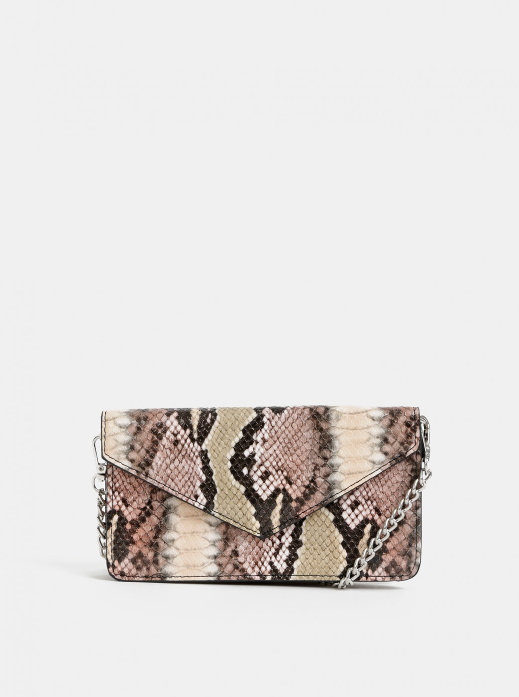 Beige bag with snake pattern Haily ́s Soni