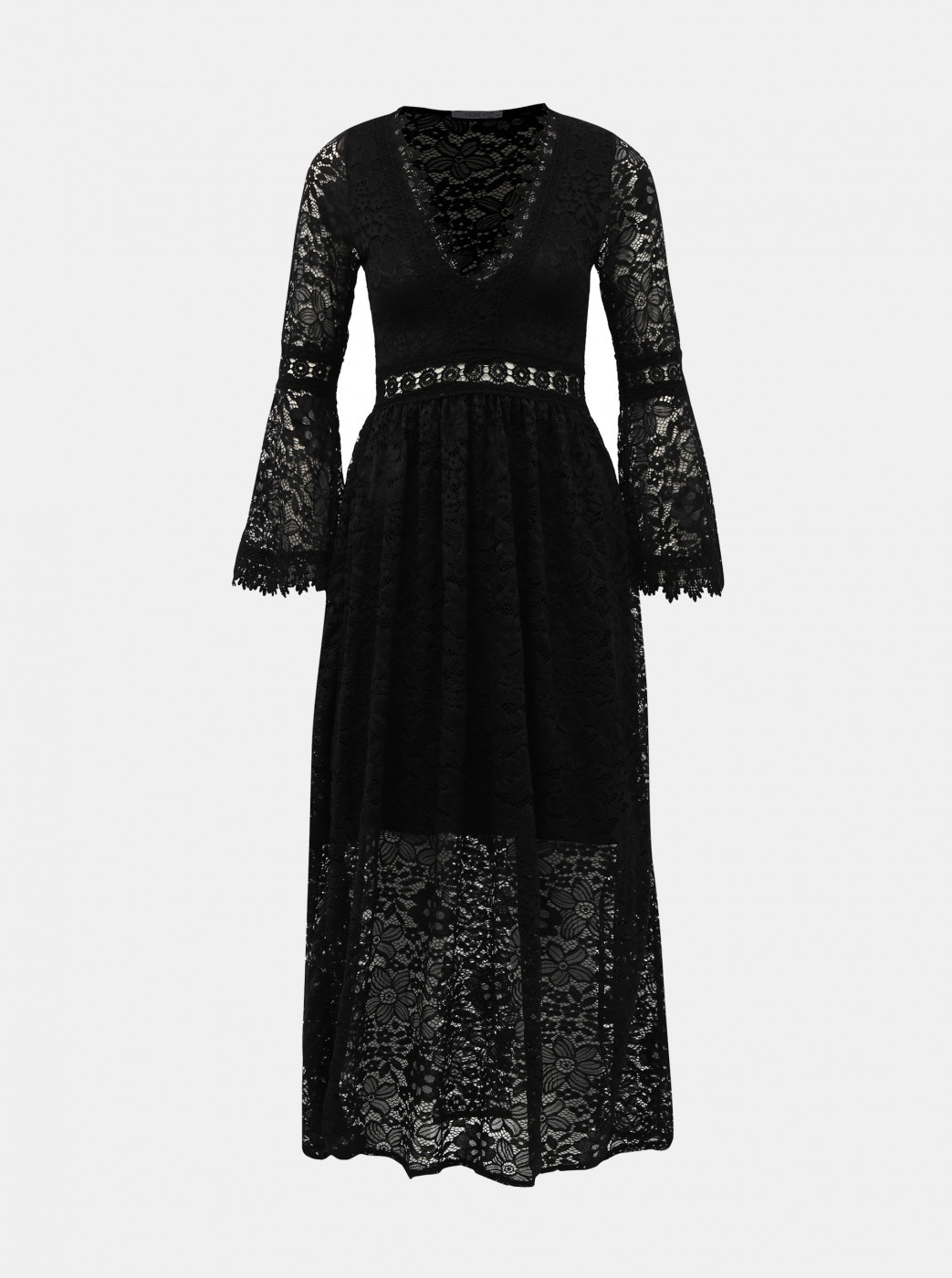 Haily ́s Cesia Black Lace Maxi dress