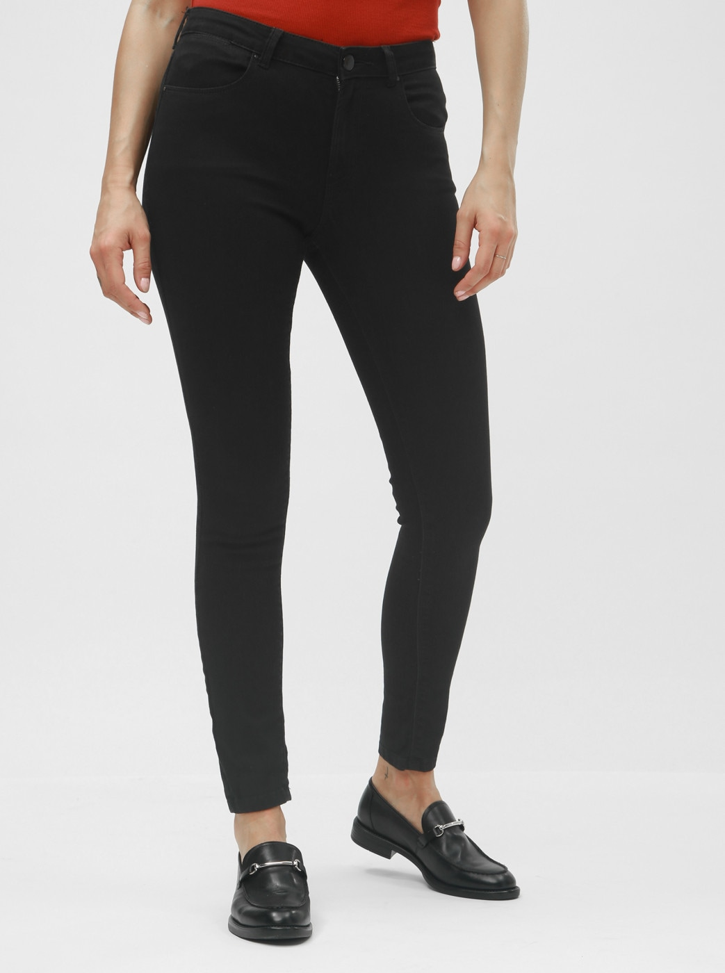 Black skinny jeans with Dorothy Perkins Bailey pockets