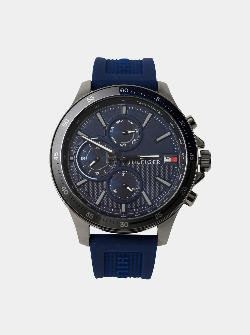 Tommy Hilfiger Men's Watch with Blue Silicone Belt