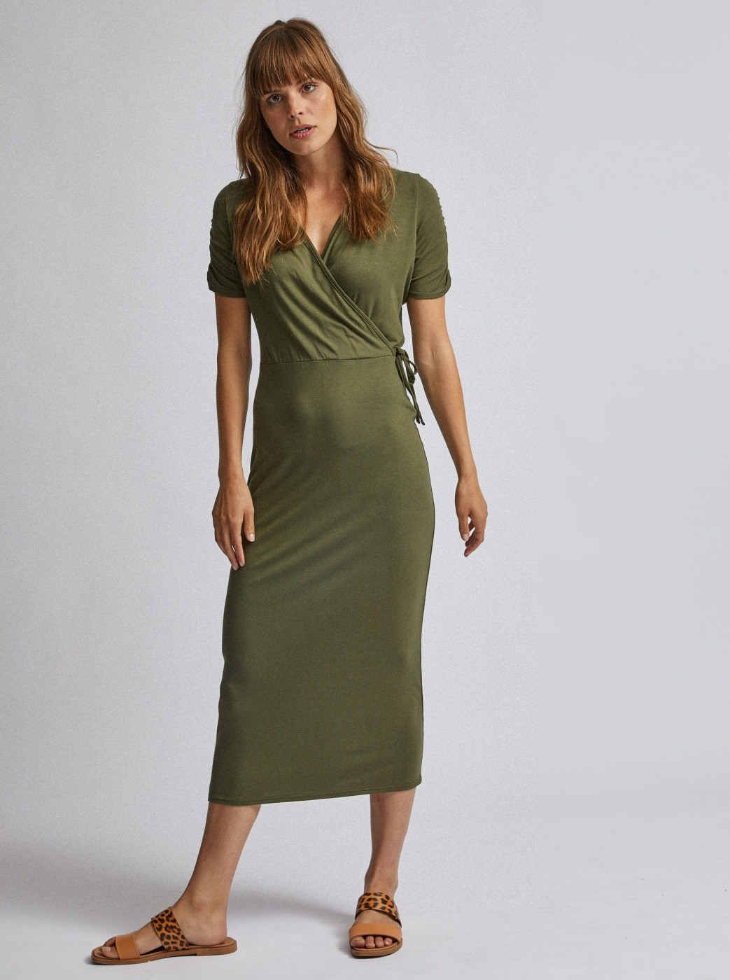Khaki maxi dress dorothy perkins