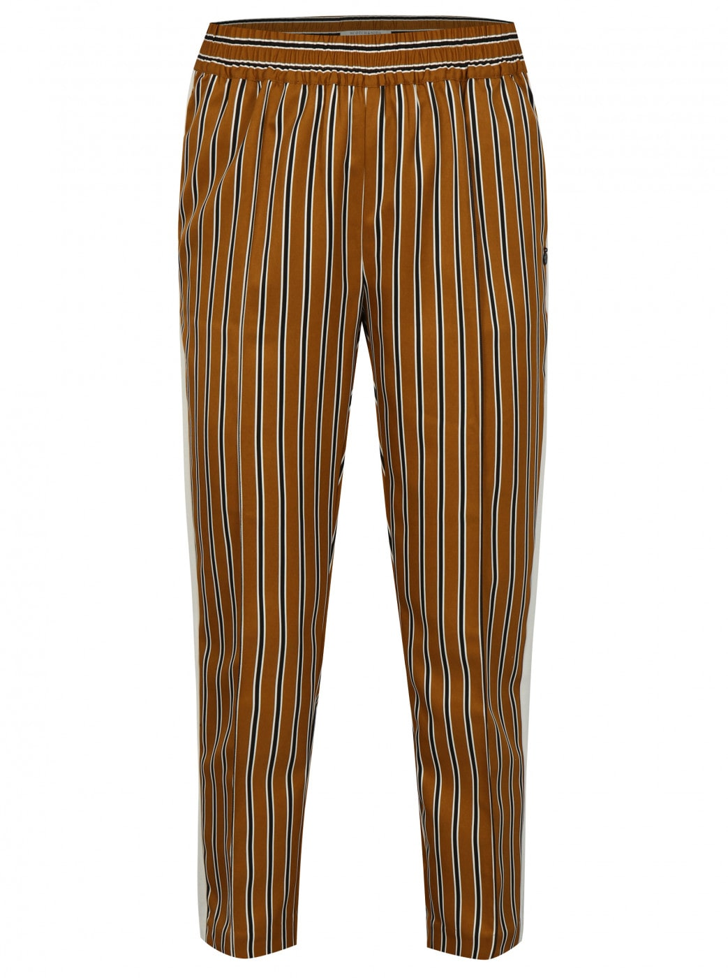 Mustard striped trousers with high waist Scotch & Soda