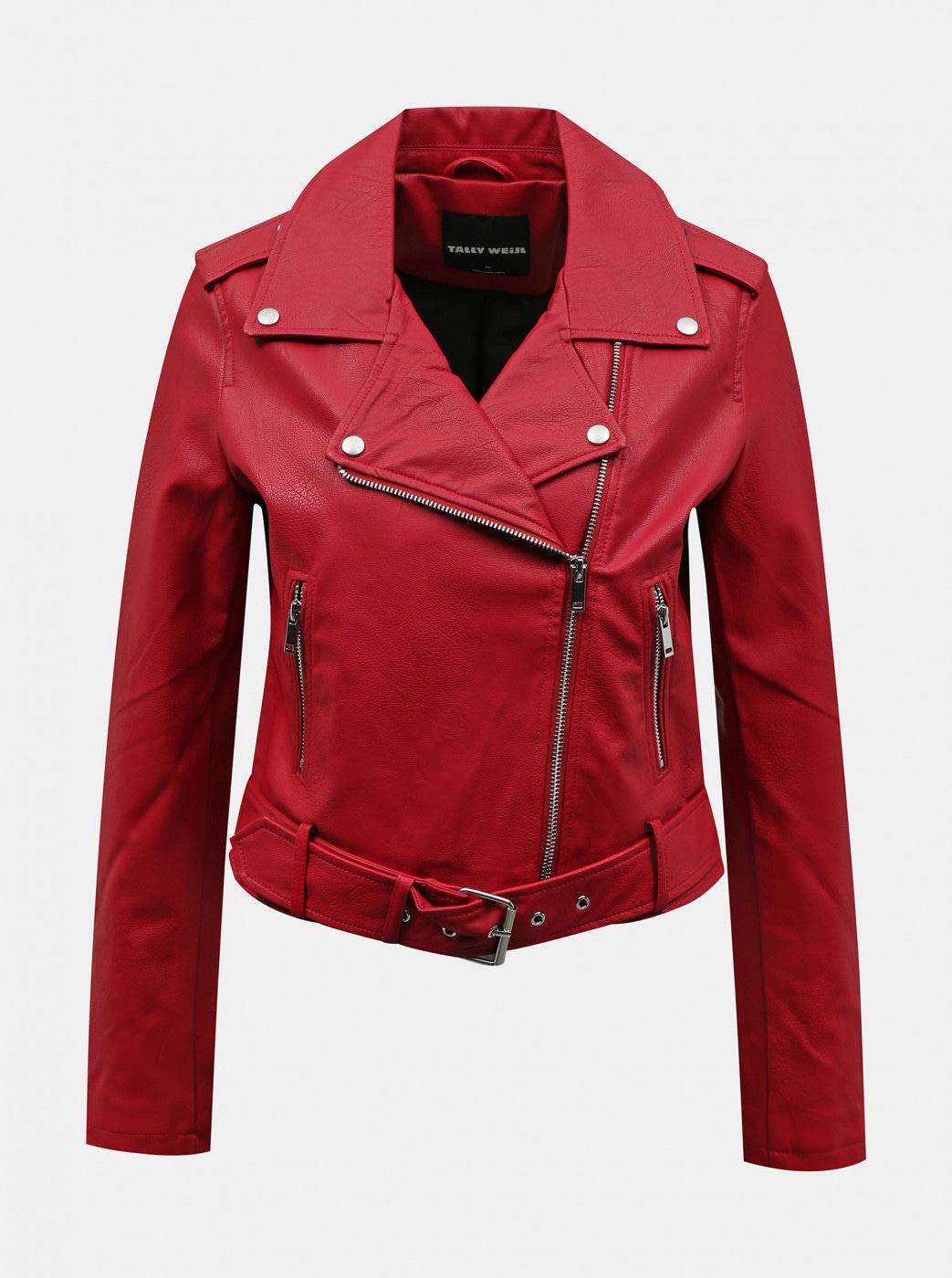 Red leatherette curve TALLY WEiJL