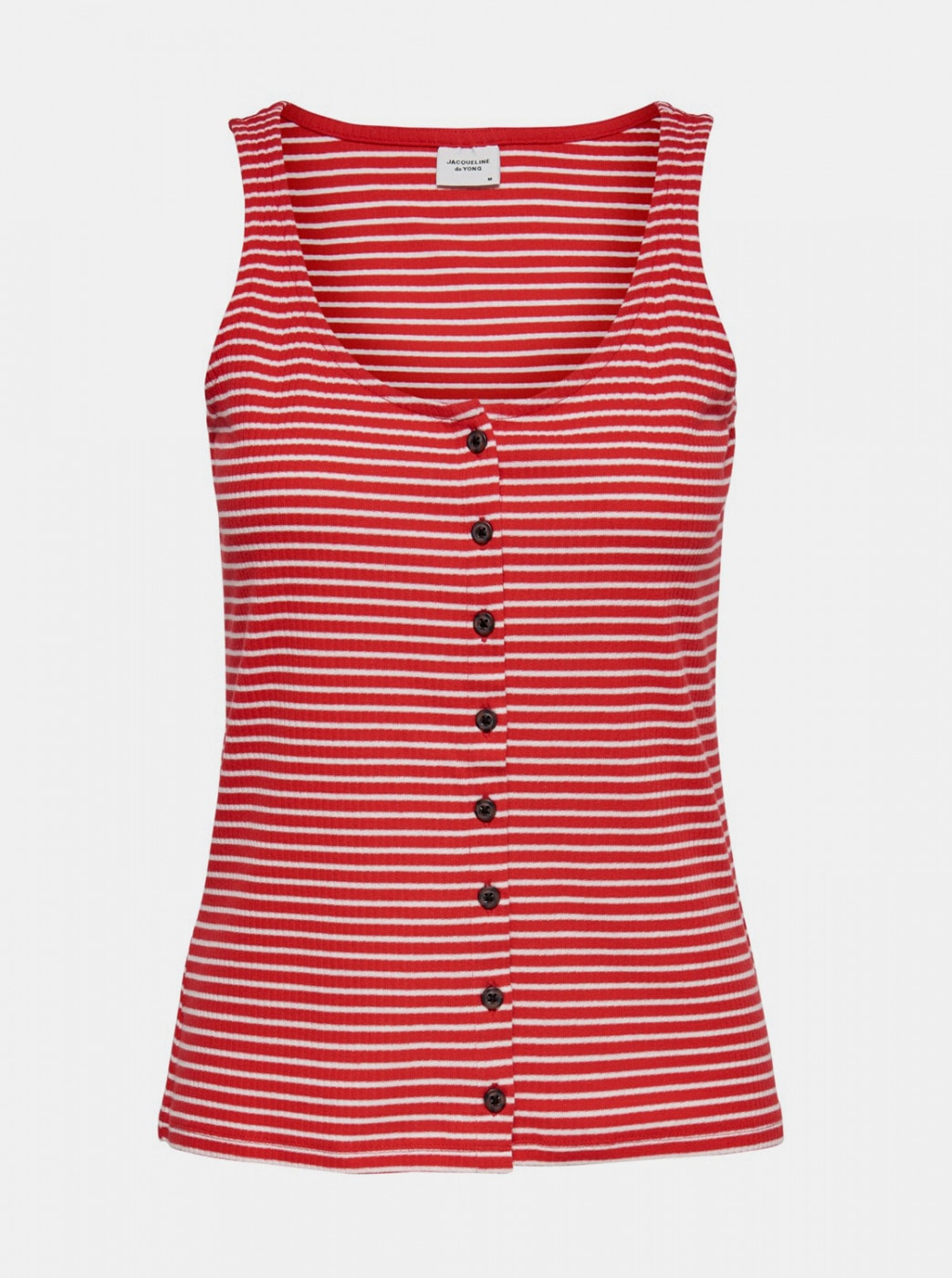Jacqueline de Yong Nevada Red Striped Tank Top