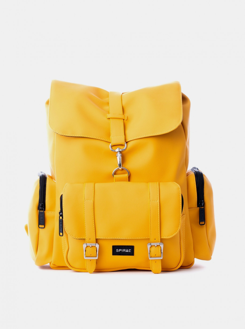 Yellow Spiral Backpack