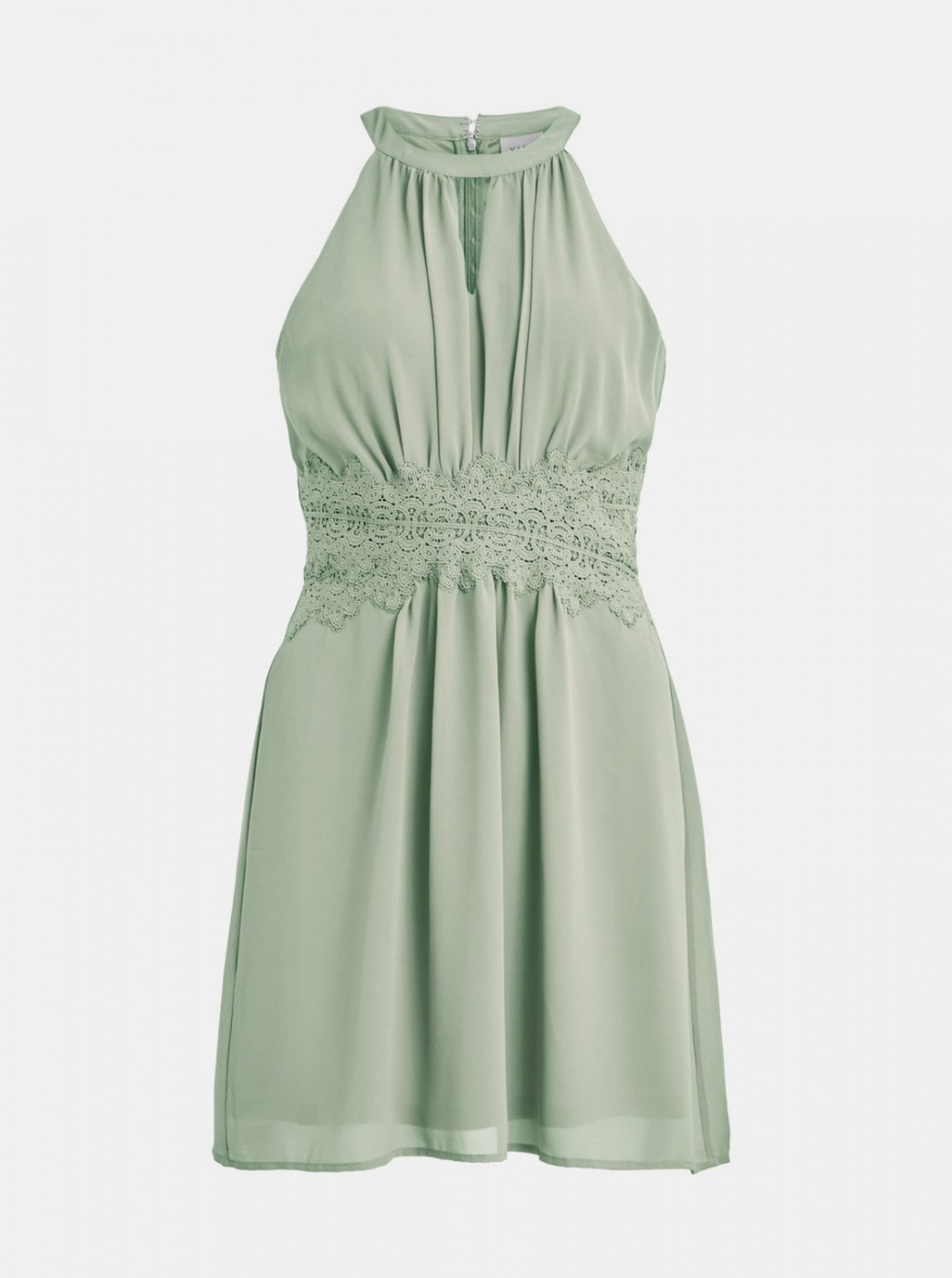 Light green dress with lace VILA Milina