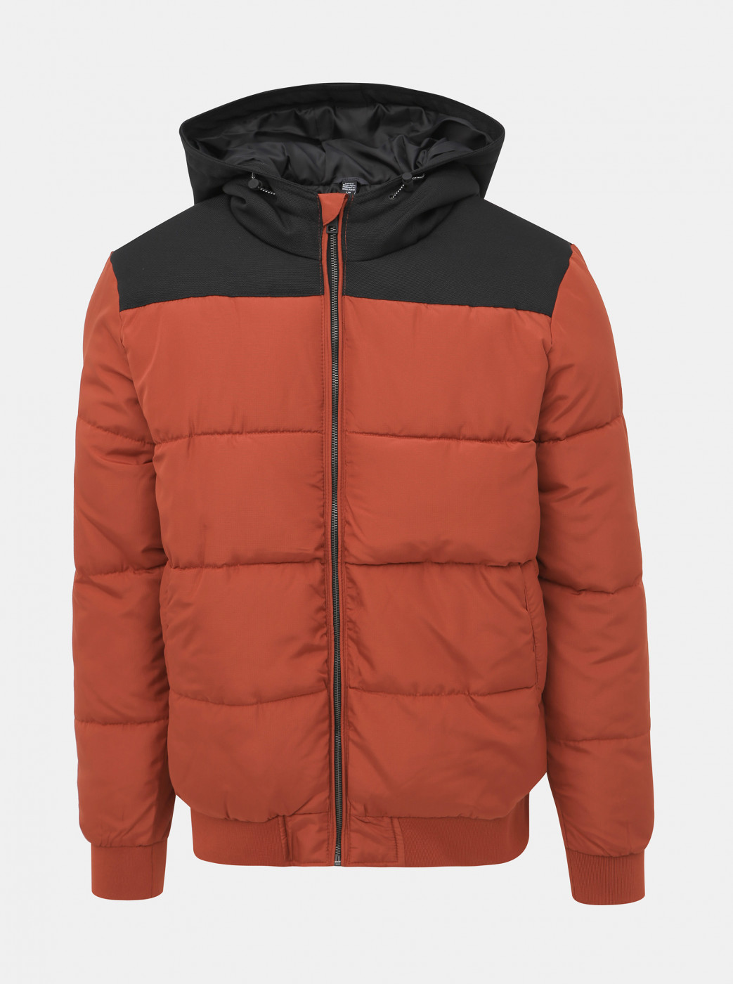 Orange Quilted Winter Jacket ONLY & SONS Boston