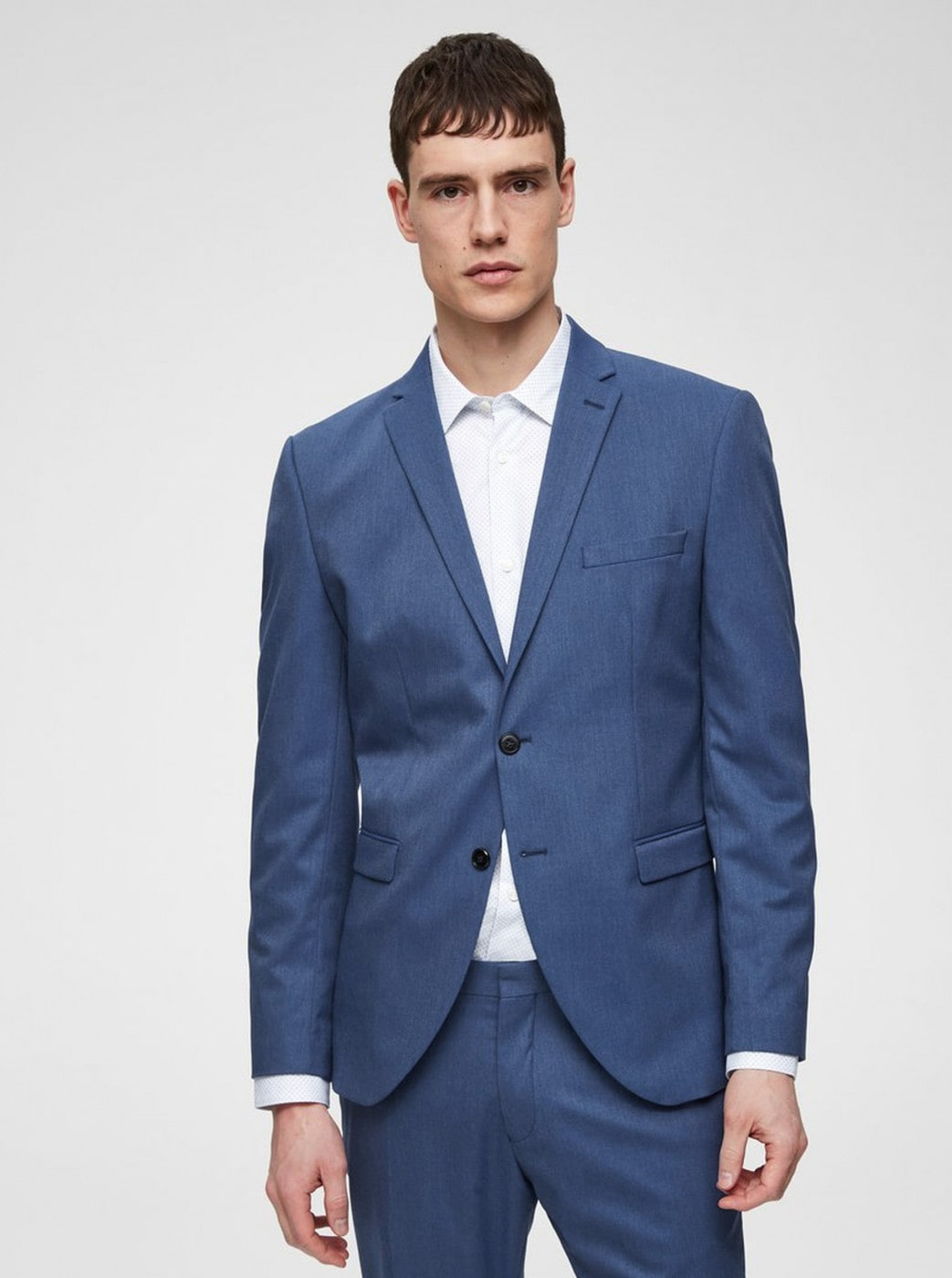 Blue Suit Slim Jacket Selected by Homme Logan