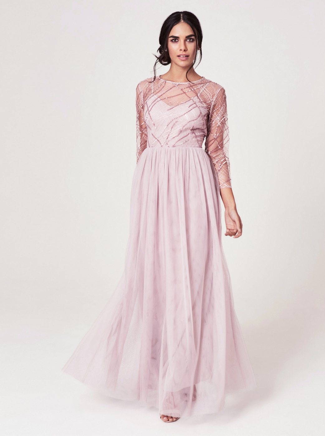 Little Mistress's Old Pink Maxi Dress