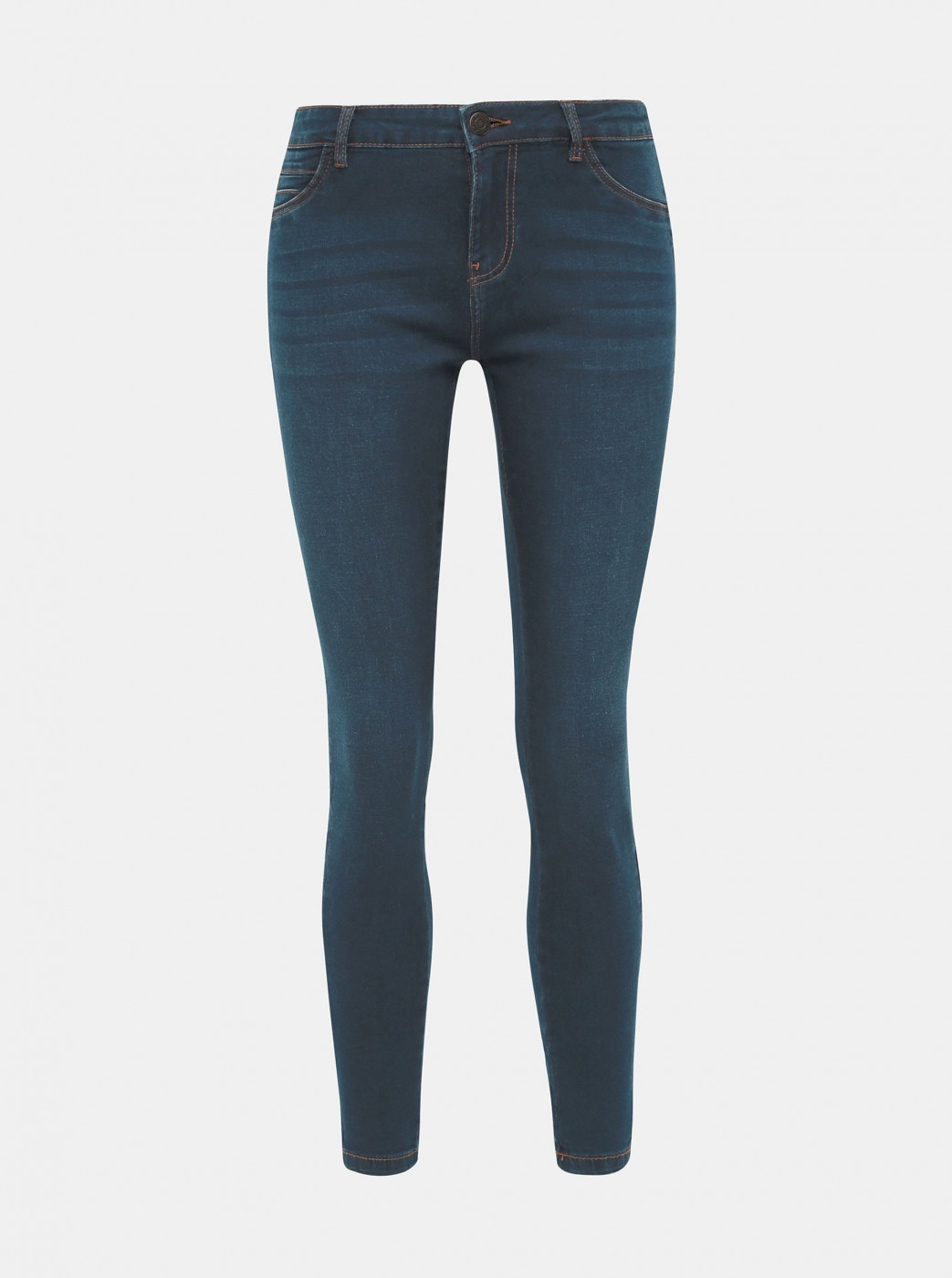 Dark Blue Cropped Skinny Fit Jeans Noisy May Kimmy