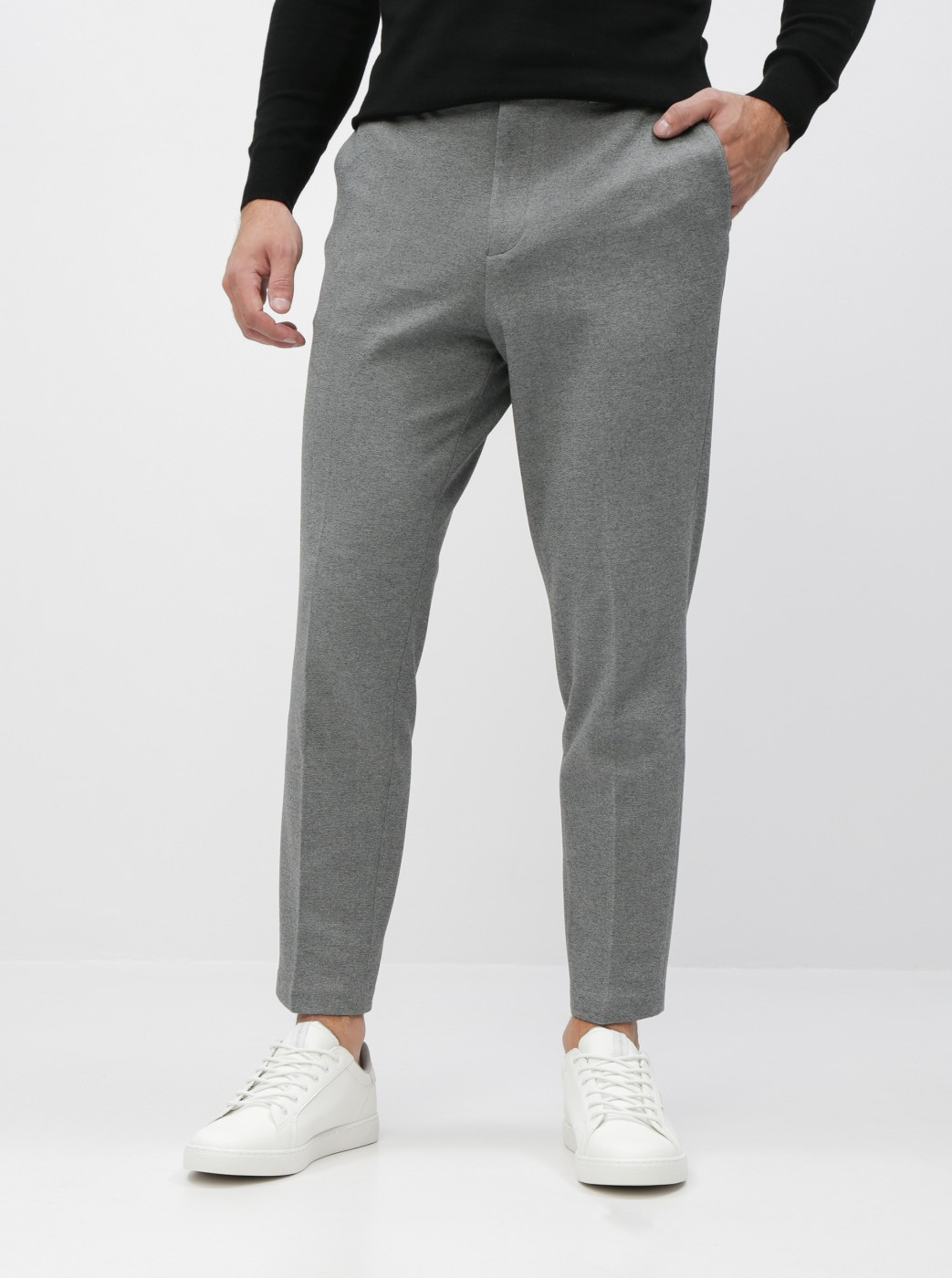 Grey Slim Fit Pants Selected Homme New Jersey