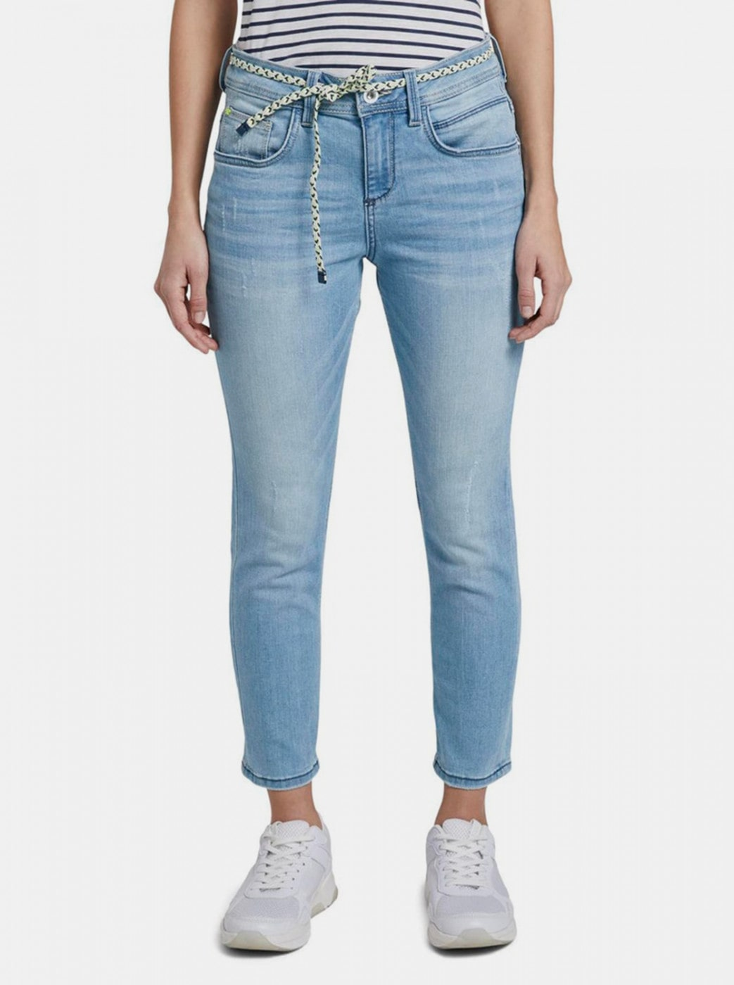 Blue Women's Abbreviated Relaxed Fit Jeans Tom Tailor