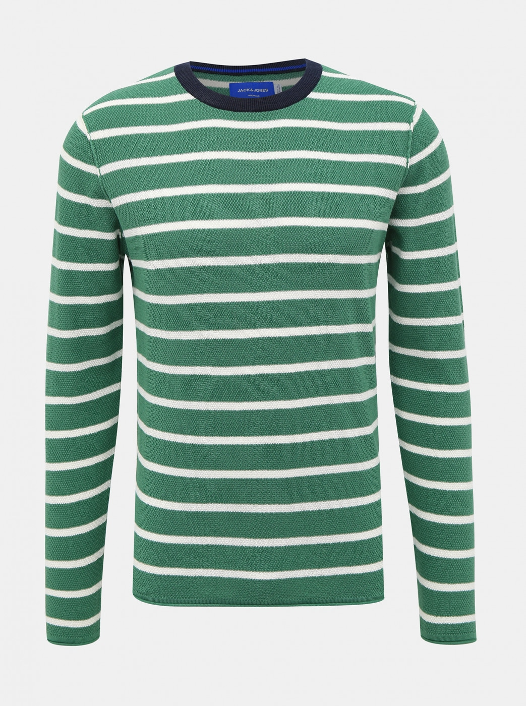 Green Striped Jack & Jones Nelson Sweater