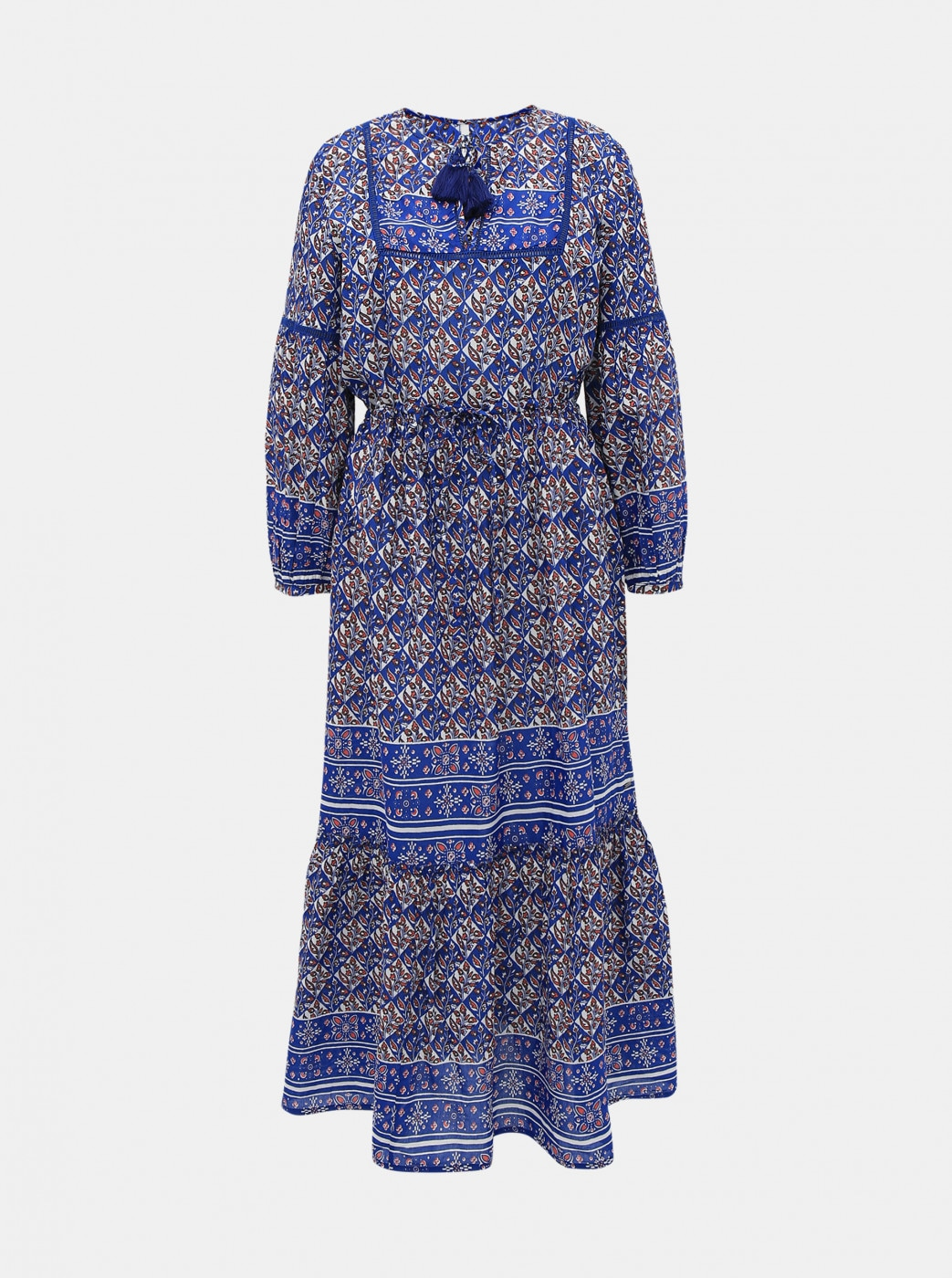Dark Blue Patterned Maxi dress Pepe Jeans Norma