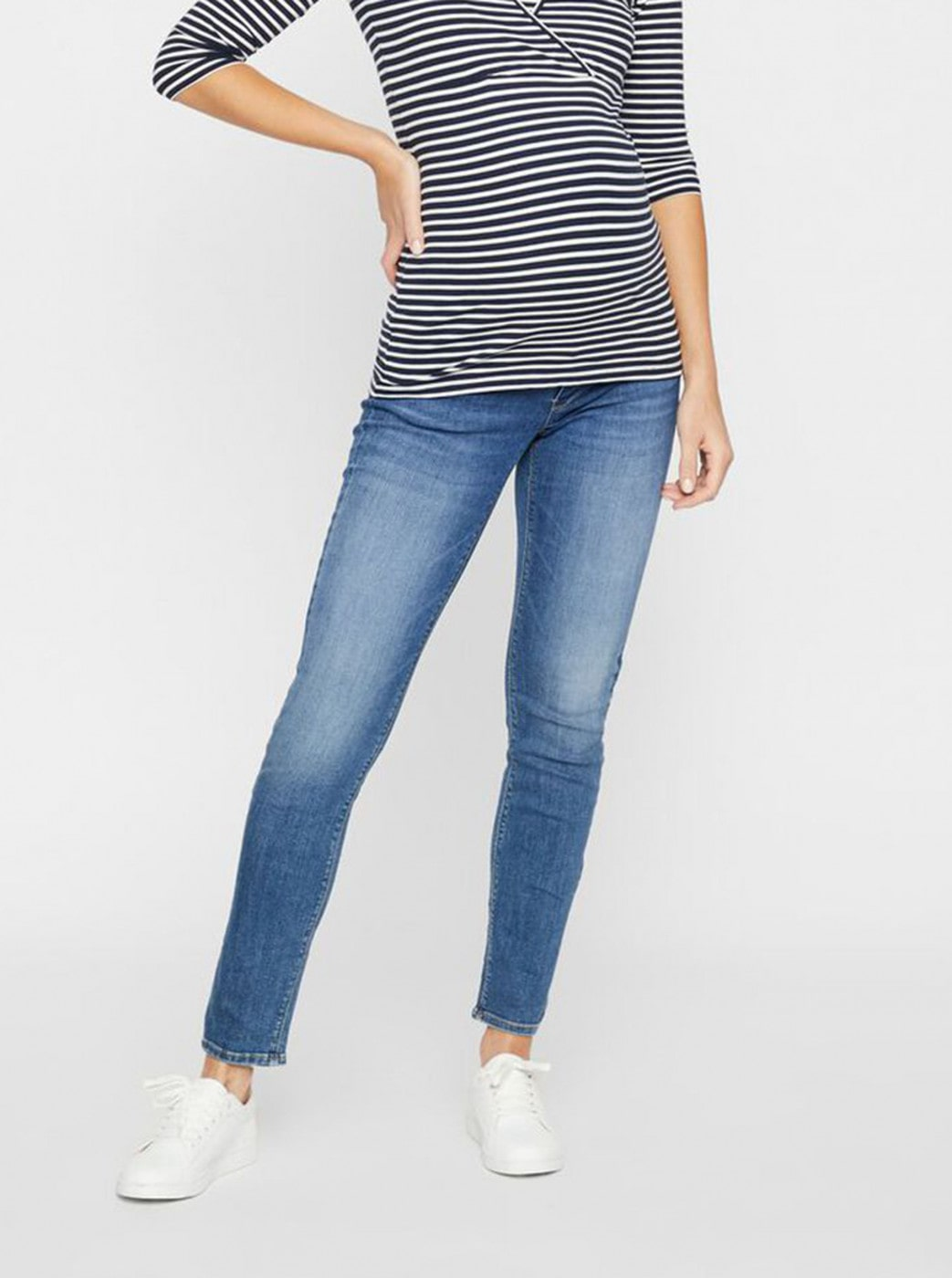 Blue Maternity Straight Fit Jeans Mama.licious Punta
