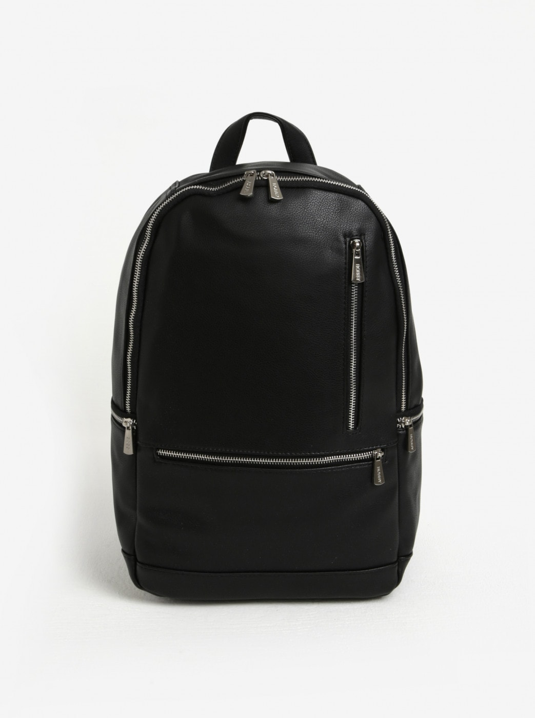 Black backpack with zippers in silver Bobby Black