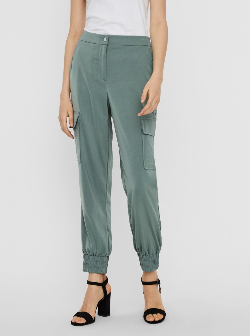 Green trousers VERO MODA Paula