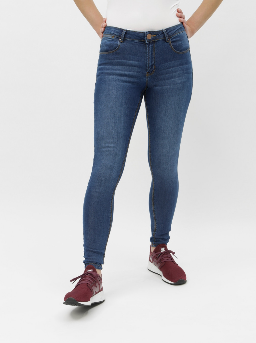 Blue skinny fit jeans Dorothy Perkins Bailey