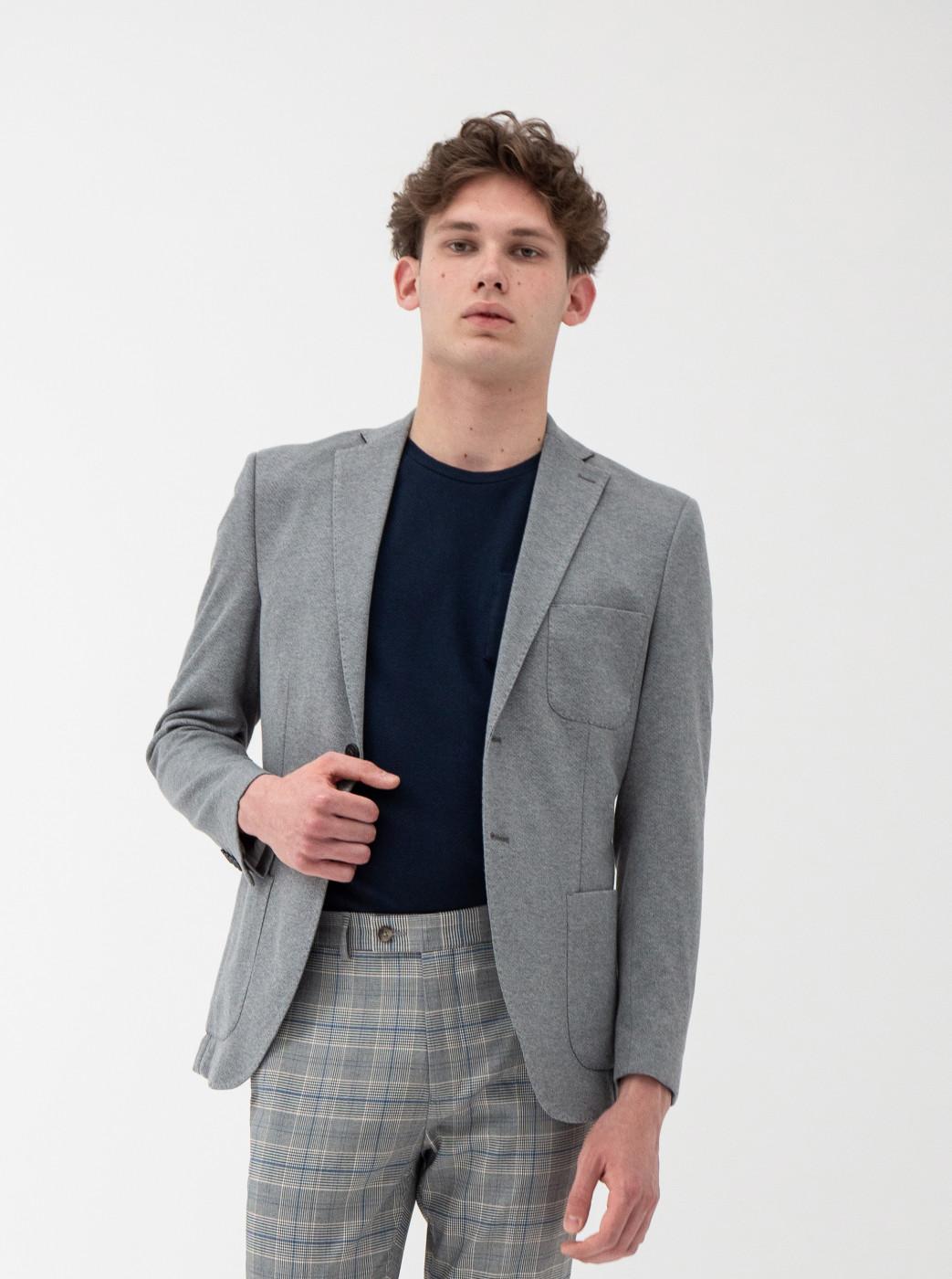Light Grey Annealed Slim Jacket Selected by Homme Milos