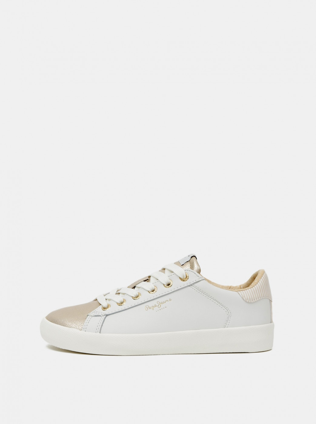 Pepe Jeans Cream Women's Leather Sneakers