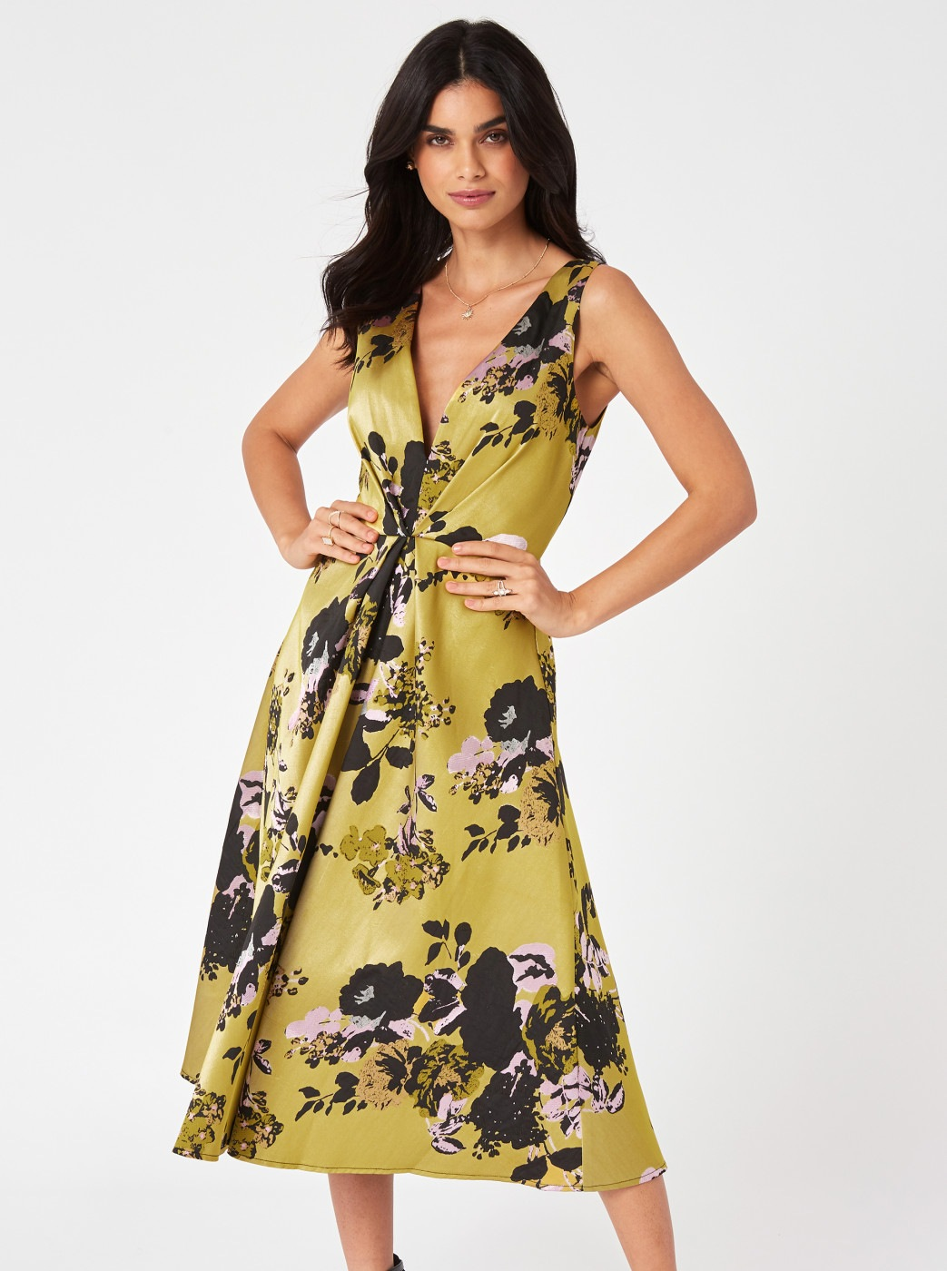 Yellow Floral Mididishes Little Mistress
