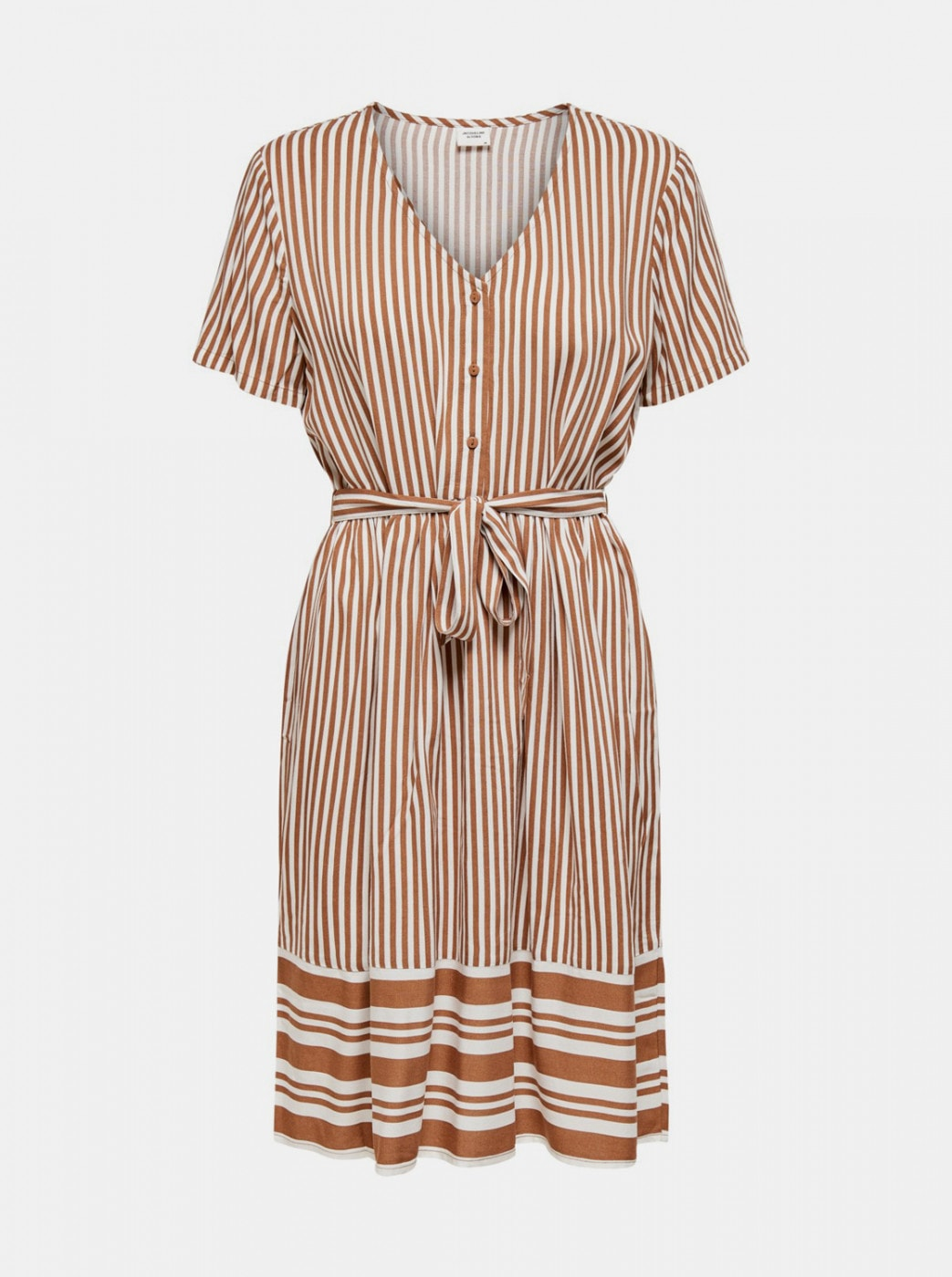 Jacqueline de Yong Tifanny's Brown Striped Dress