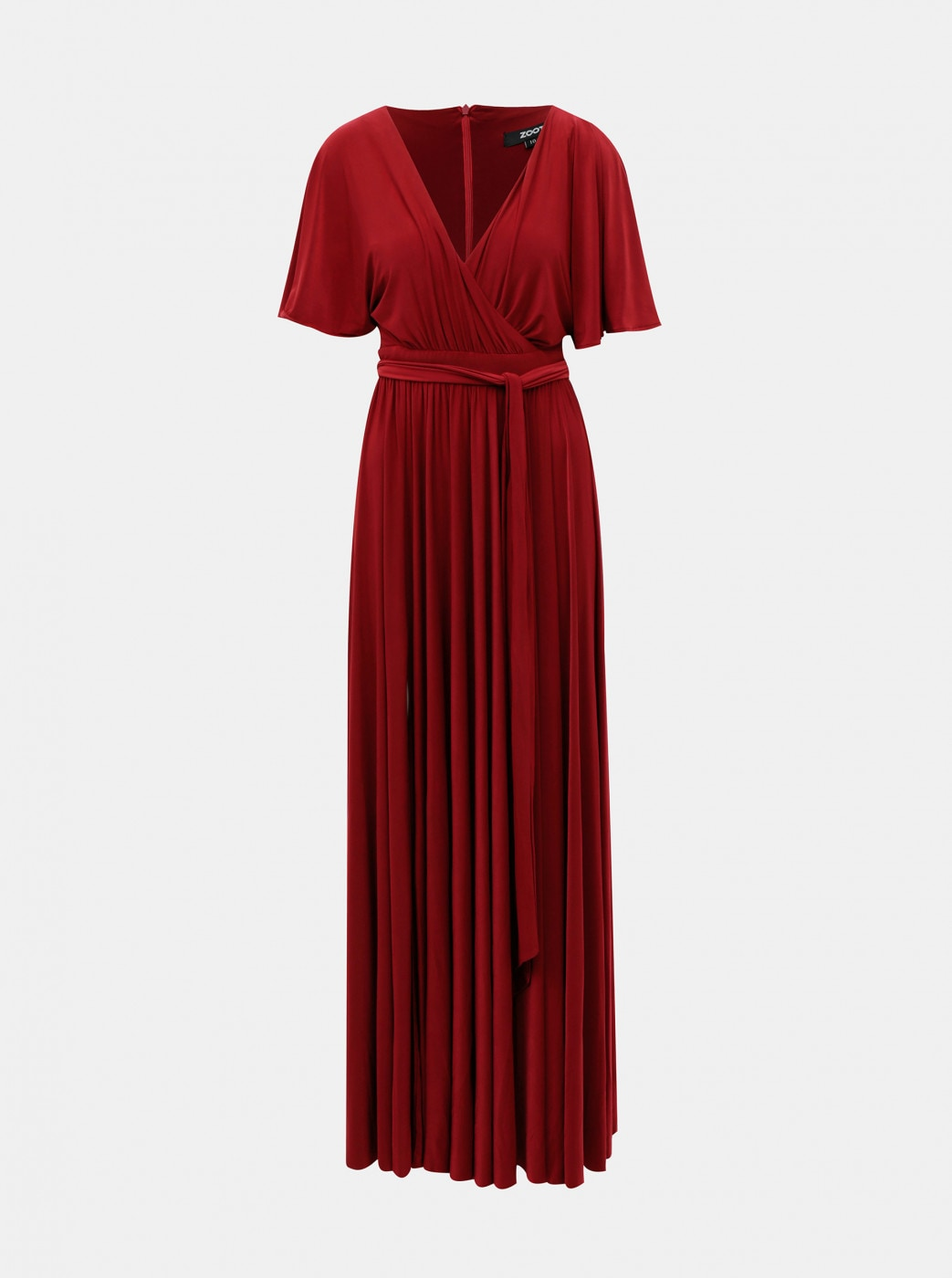 Burgundy maxi dress with zoot slit