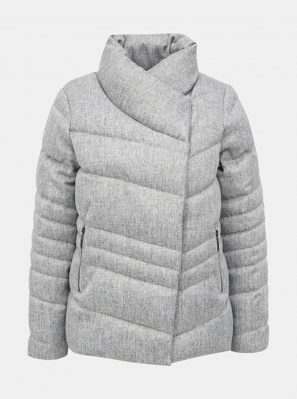 Grey winter quilted jacket M&Co
