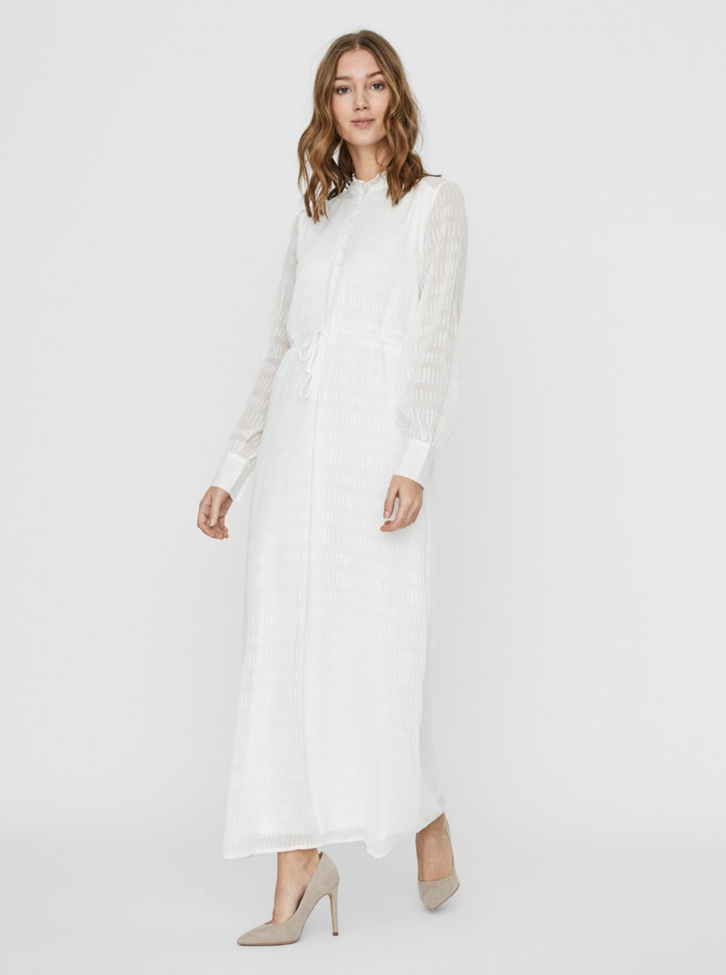 Vero MODA Live White Patterned Maxi dress
