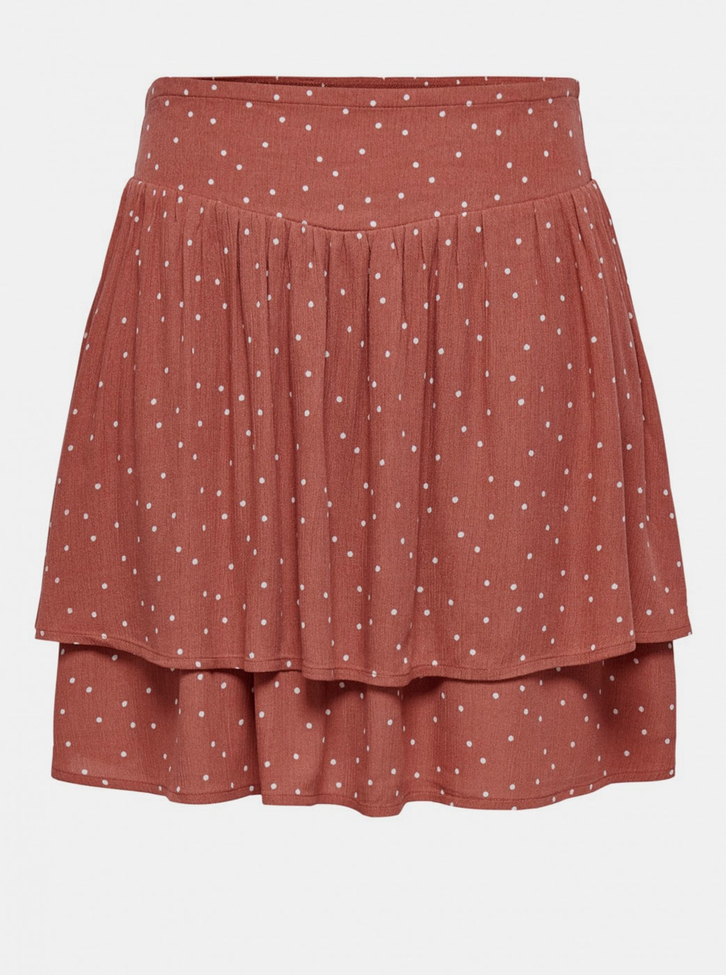 Jacqueline de Yong Caro Brown Polka Dot Skirt