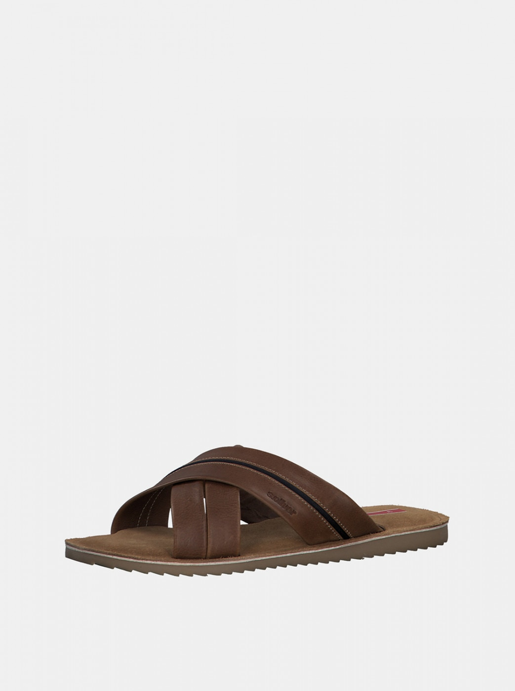 Brown Men's Leather Slippers s.Oliver