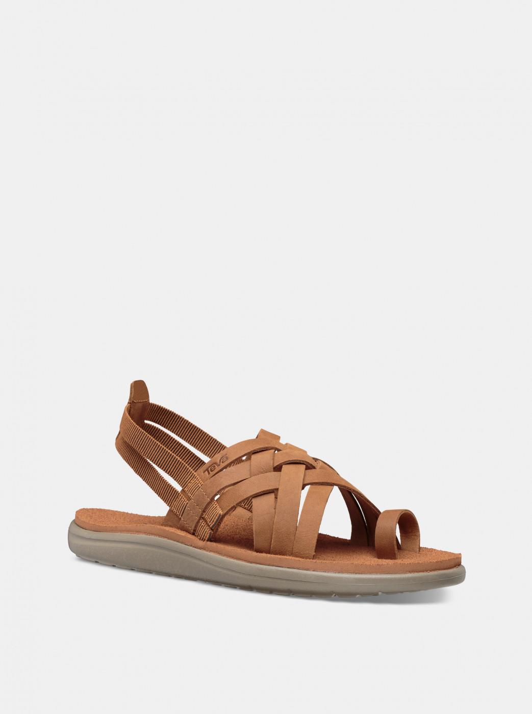 Teva Voya Strappy Brown Women's Sandals