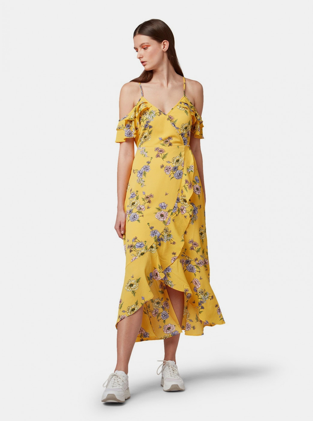 Tom Tailor Denim Yellow Floral Dress