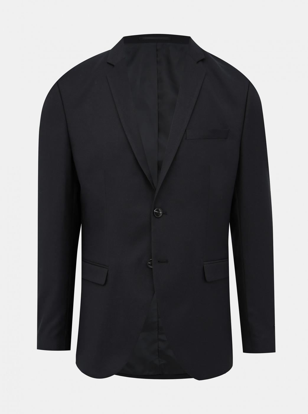 Black Suit Jacket with Admixture Of Hair Jack & Jones Solaris