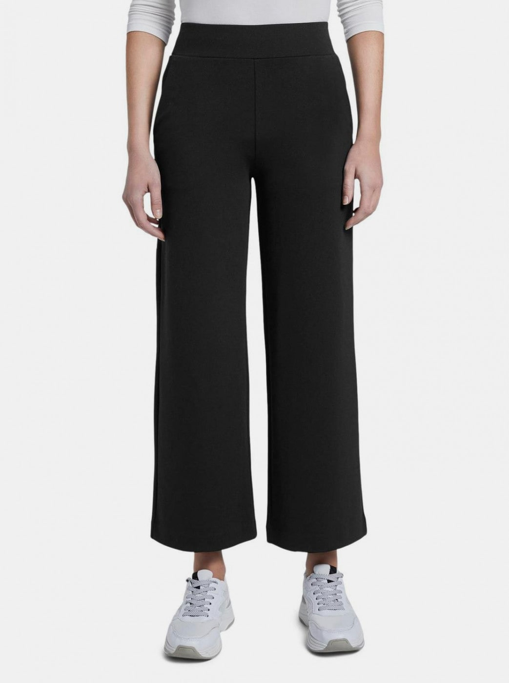 Black Women's Wide Pants Tom Tailor