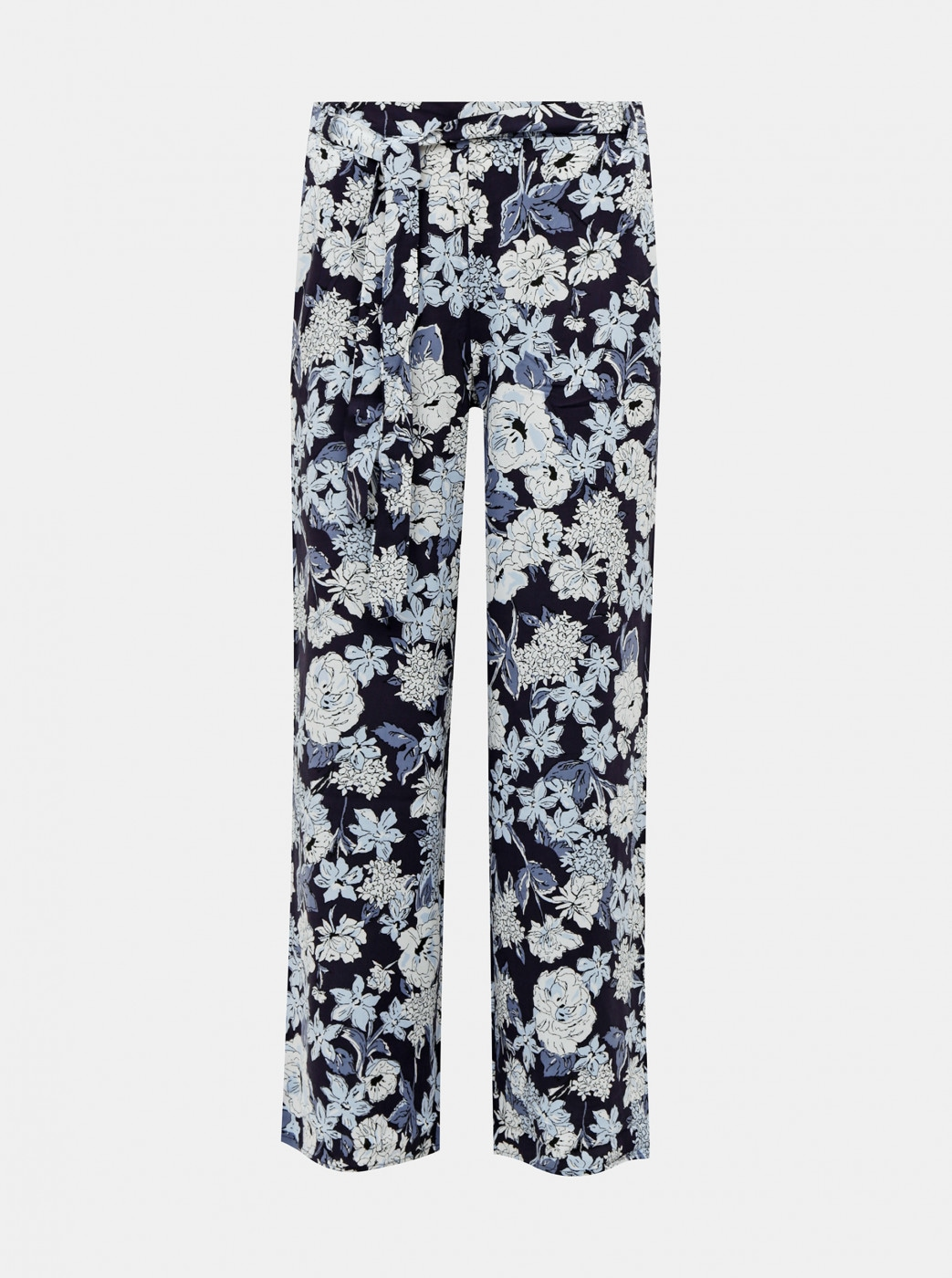 Dark blue floral trousers ONLY Nova