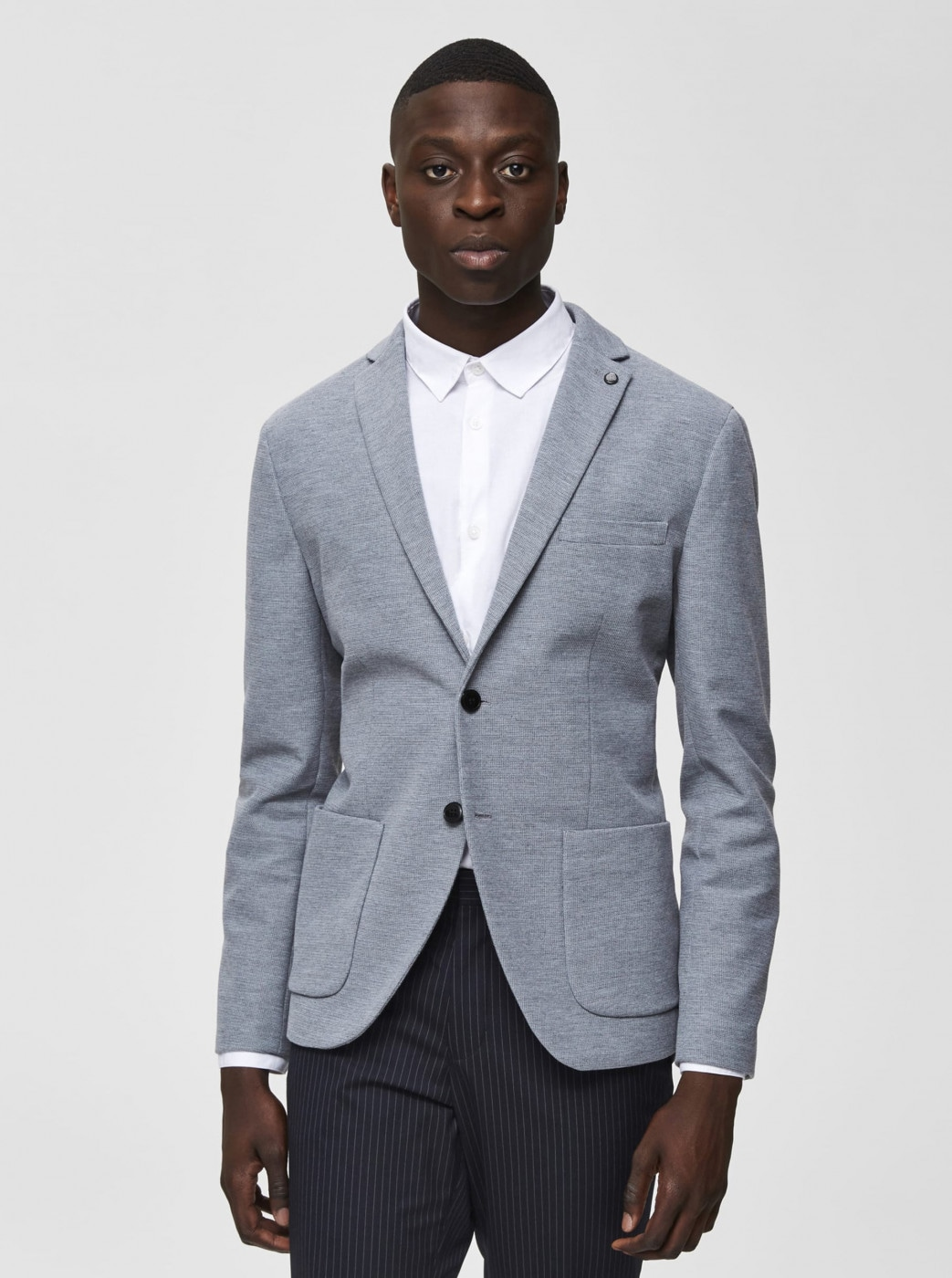 Grey Annealed Slim Fit Jacket Selected By Homme Hiken
